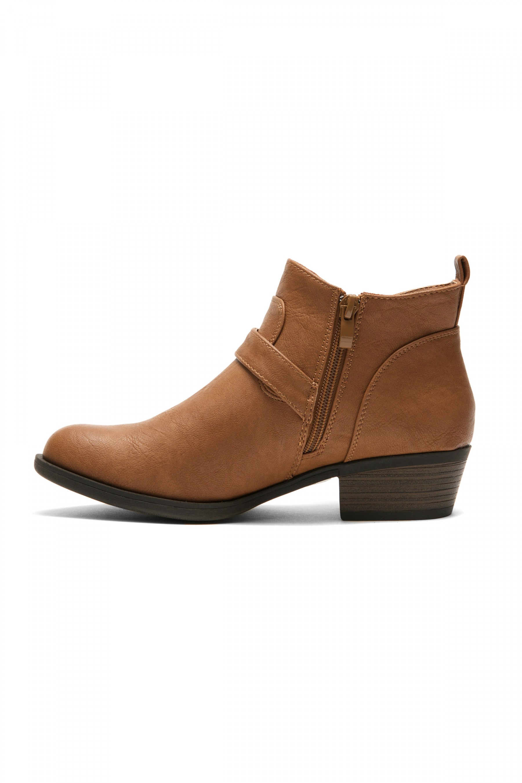 Women S Cognac Raavver Basel Boot Fashionable Stacked Heels Buckle Strapped Western Ankle Cow