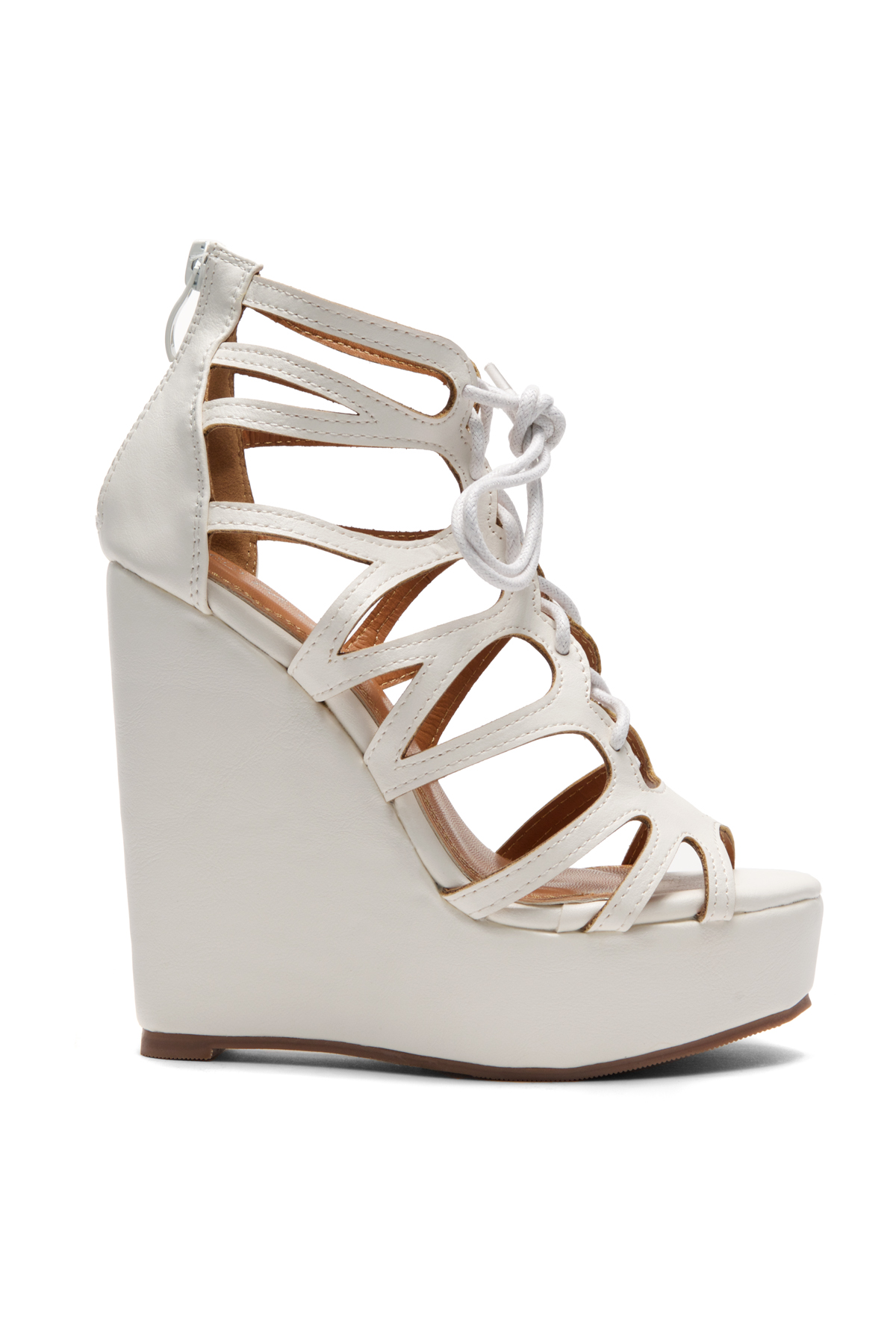 White Alessaa 5-inch Wedge Sandal