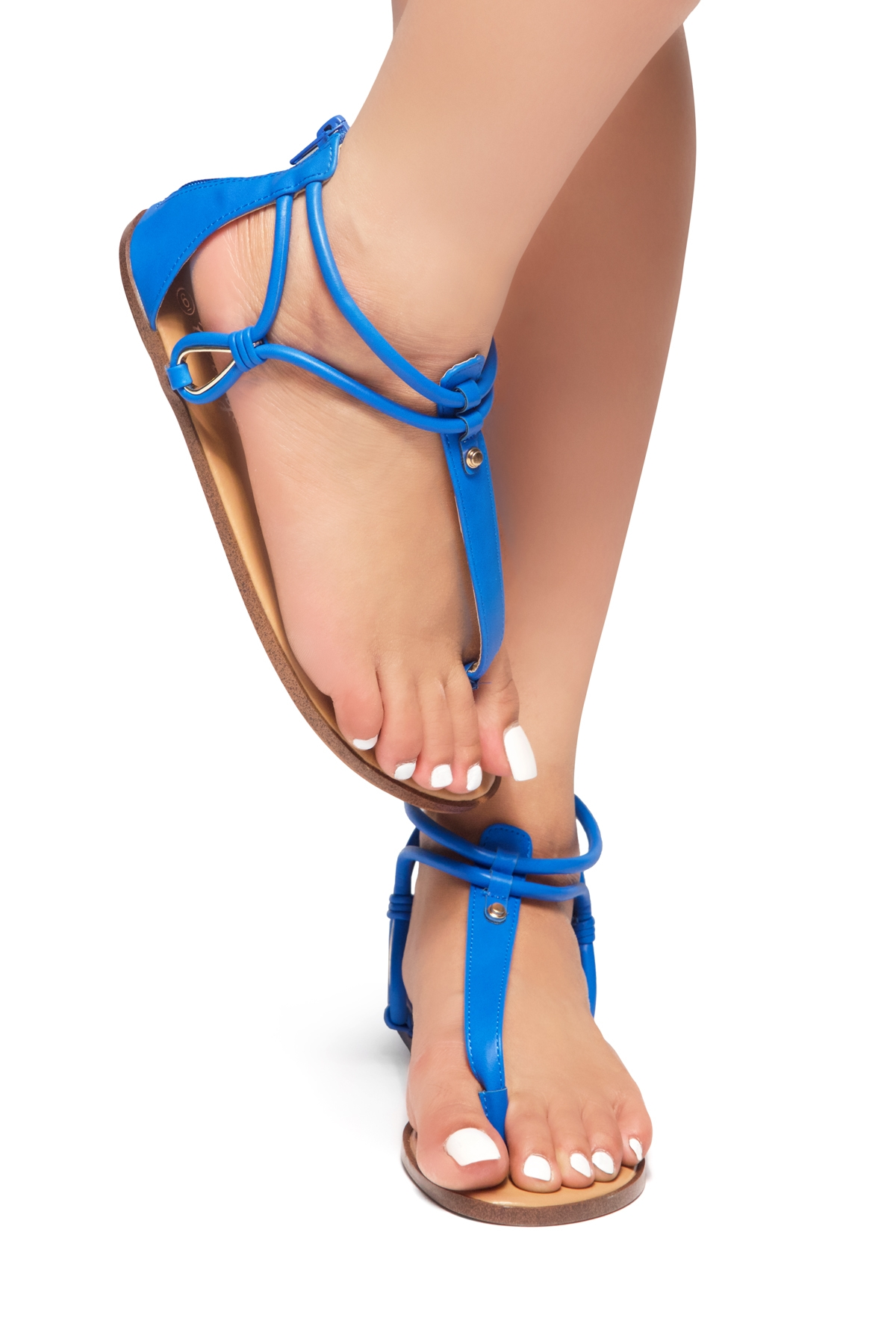 a923697618a5 HerStyle Alta – Open Toe T-Strap Thong Sandals with Simple Metallic Stud