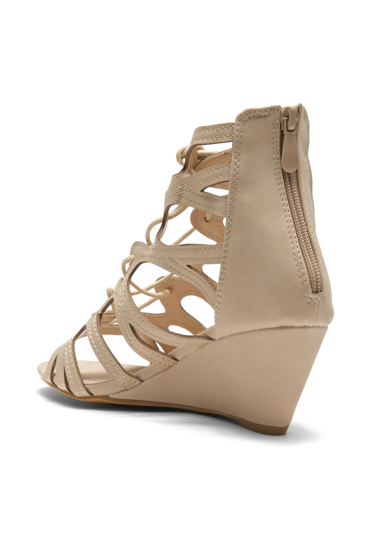 Women's Manmade Antella 3-inch Gladiator Style Wedge Sandal with ...