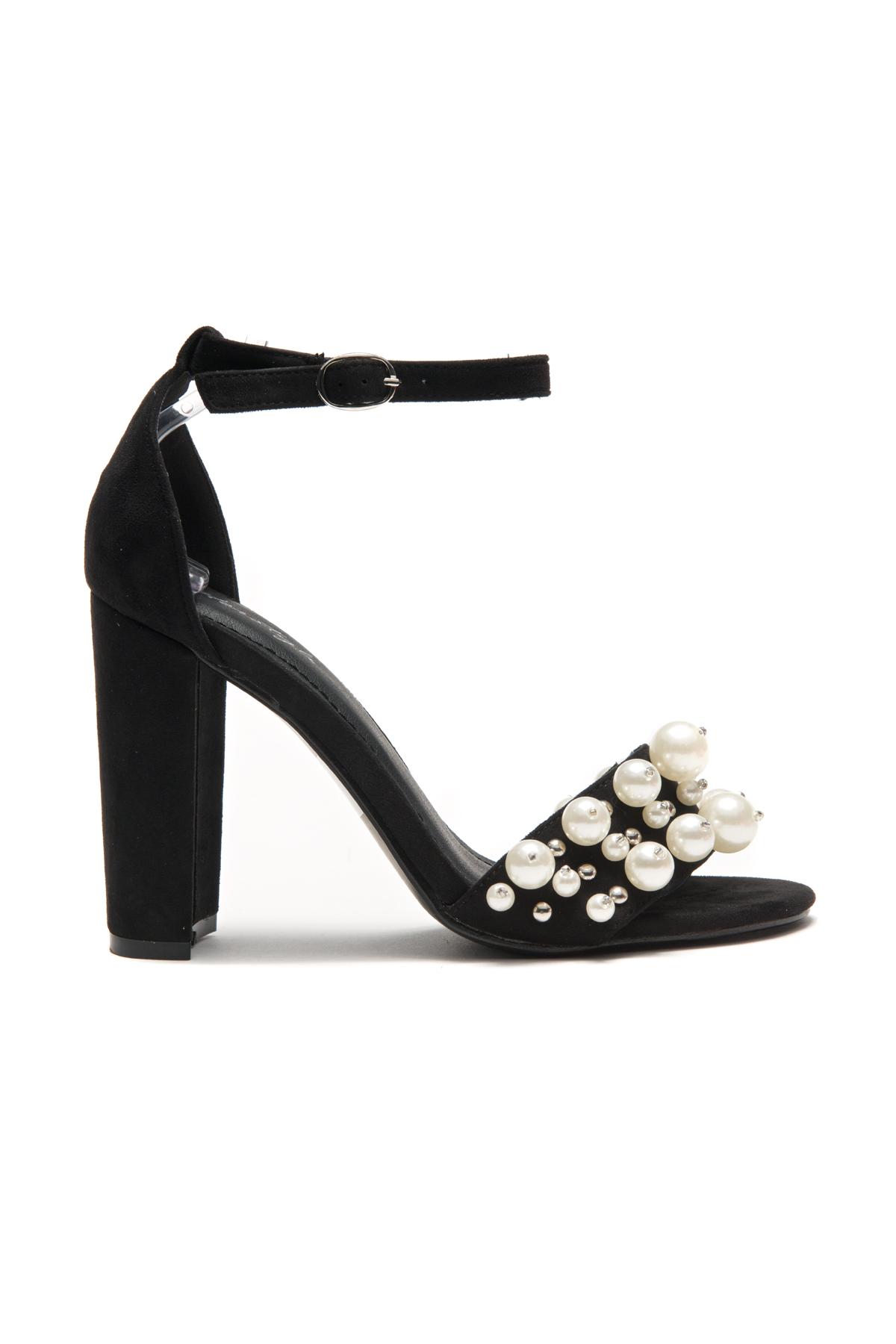 Women's Manmade Caachee faux pearl embellishments, Open Toe Ankle ...
