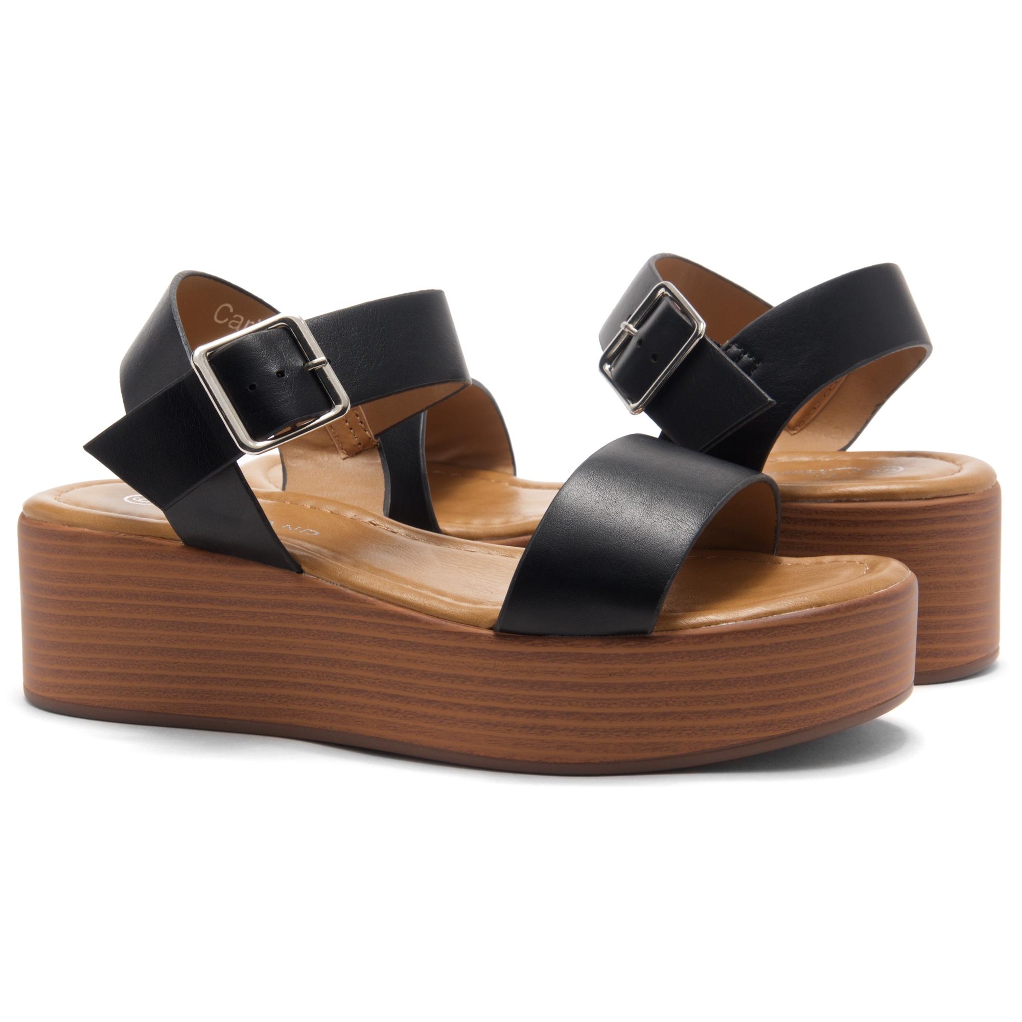 Open Carita Wedgeblackwood Herstyle Toe Strap Platform Ankle by76Yvfg