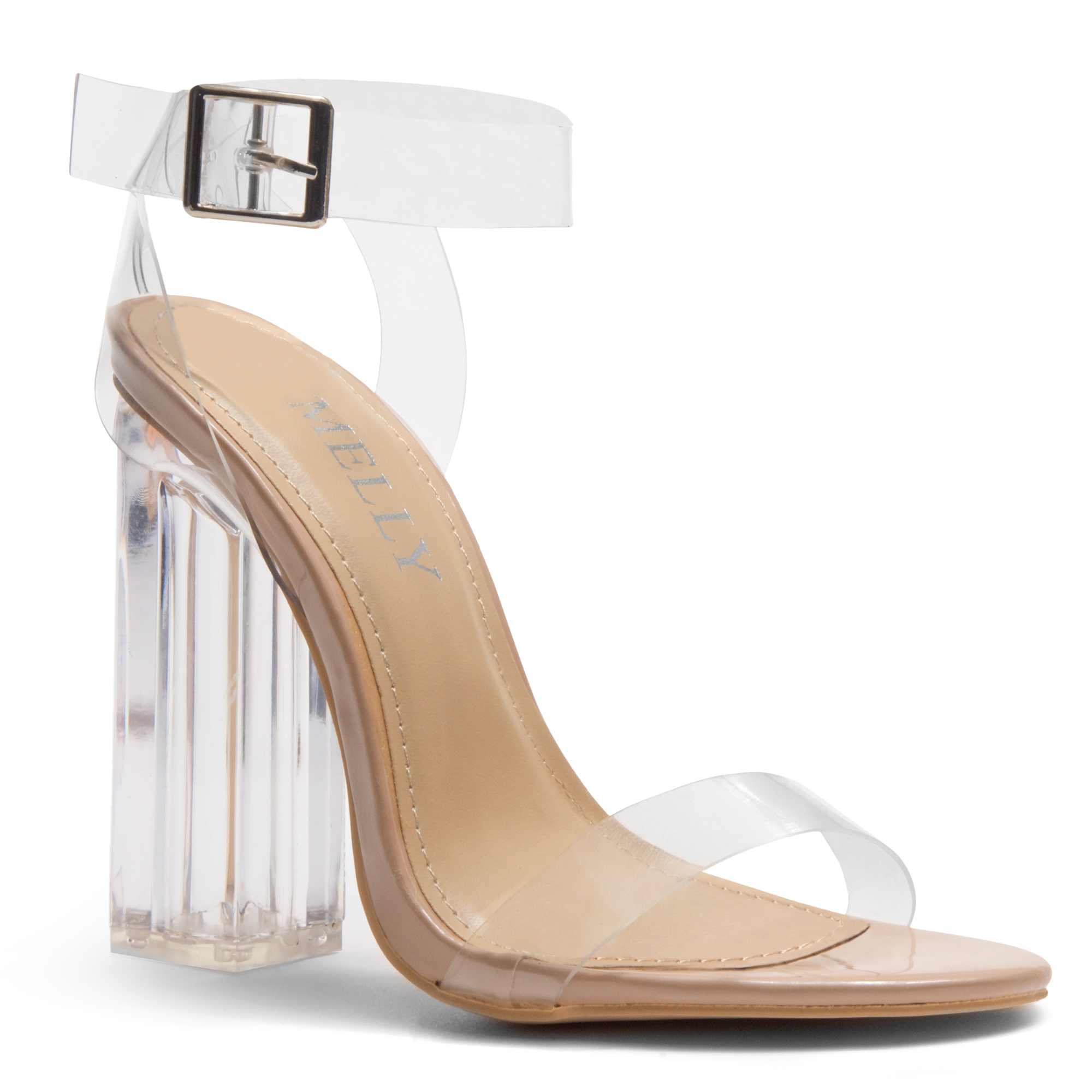 45ae6a5323e HerStyle Cllaary Perspex heel