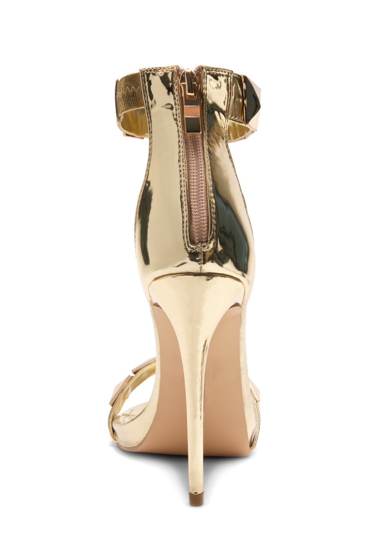 d62fa8e18e6 HerStyle Crrystina Pyramid Studded stiletto Heels (Gold)