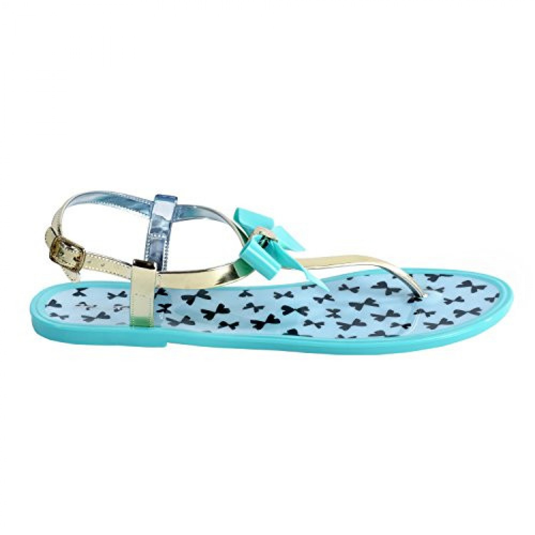 Women's Mint Deor Manmade Jelly Sandal with Charming Bow
