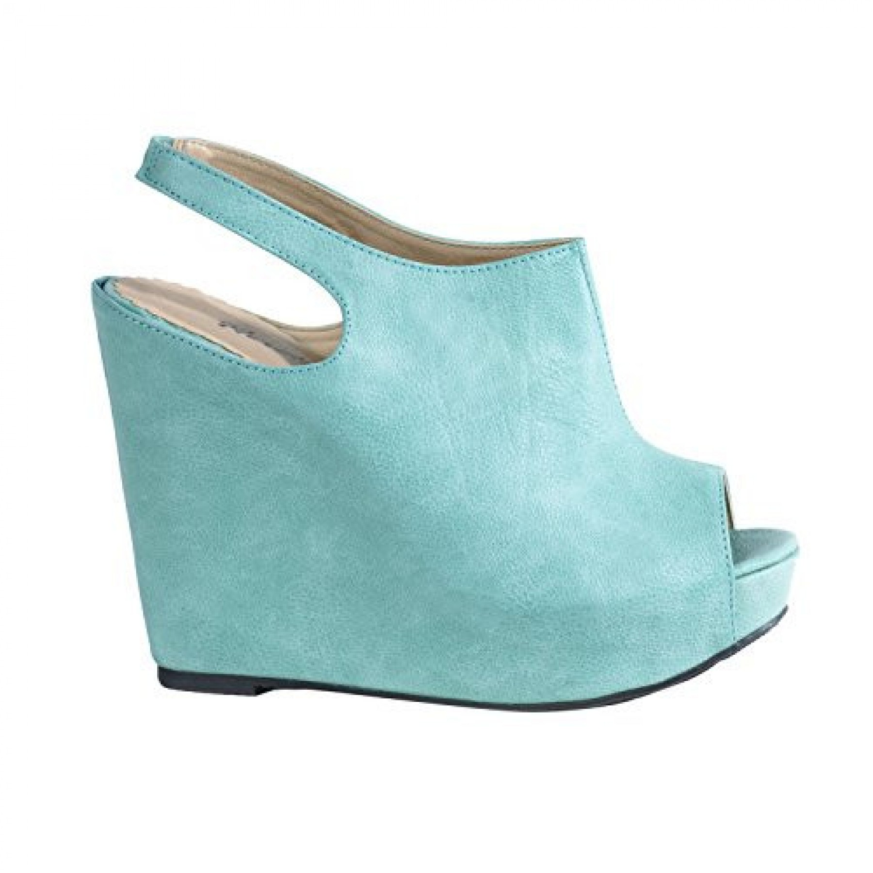Women's Teal Frances 5-inch Sexy Slingback Wedge