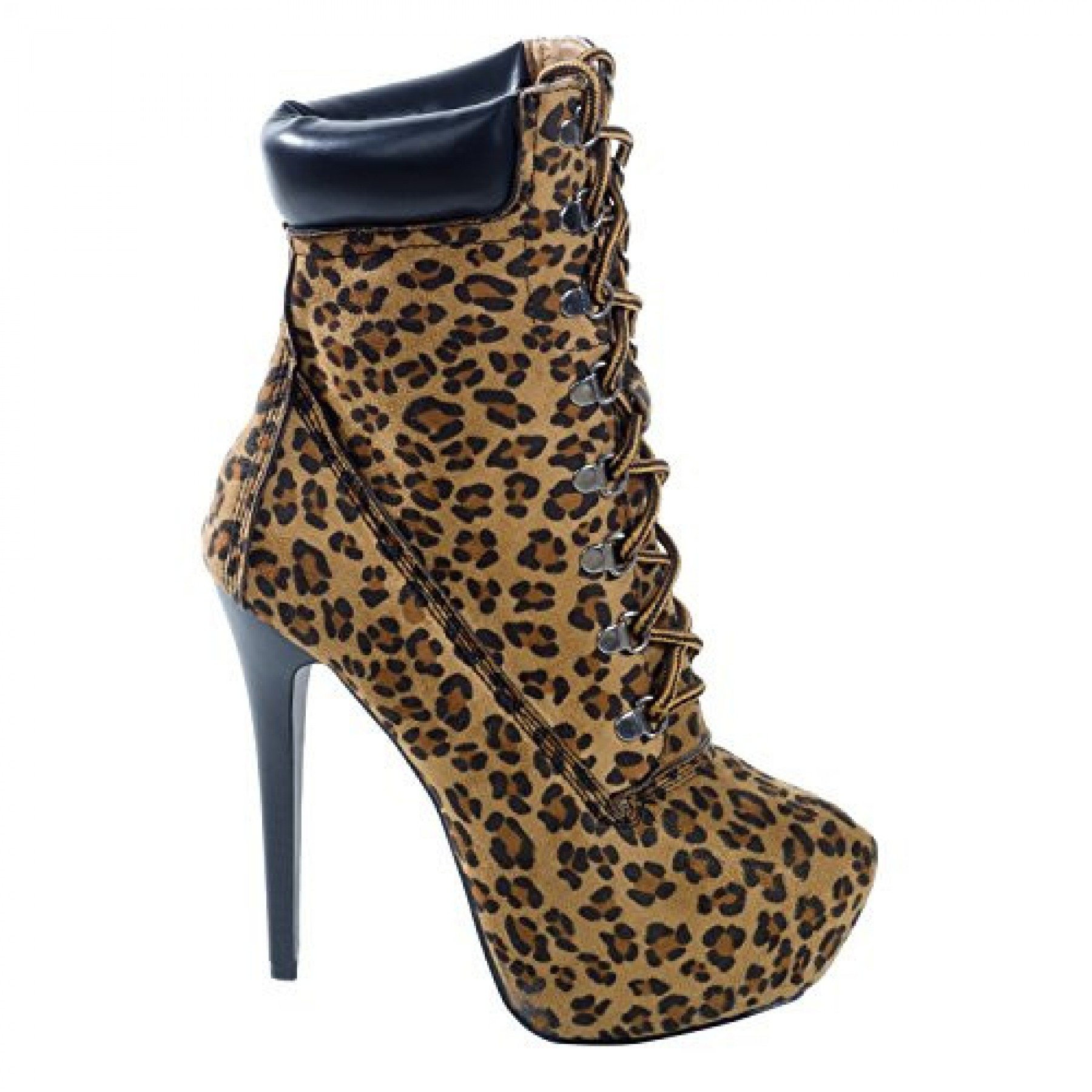 Women's Leopard Manmade Slleexi 5.5-inch Animal Print Stiletto Booties
