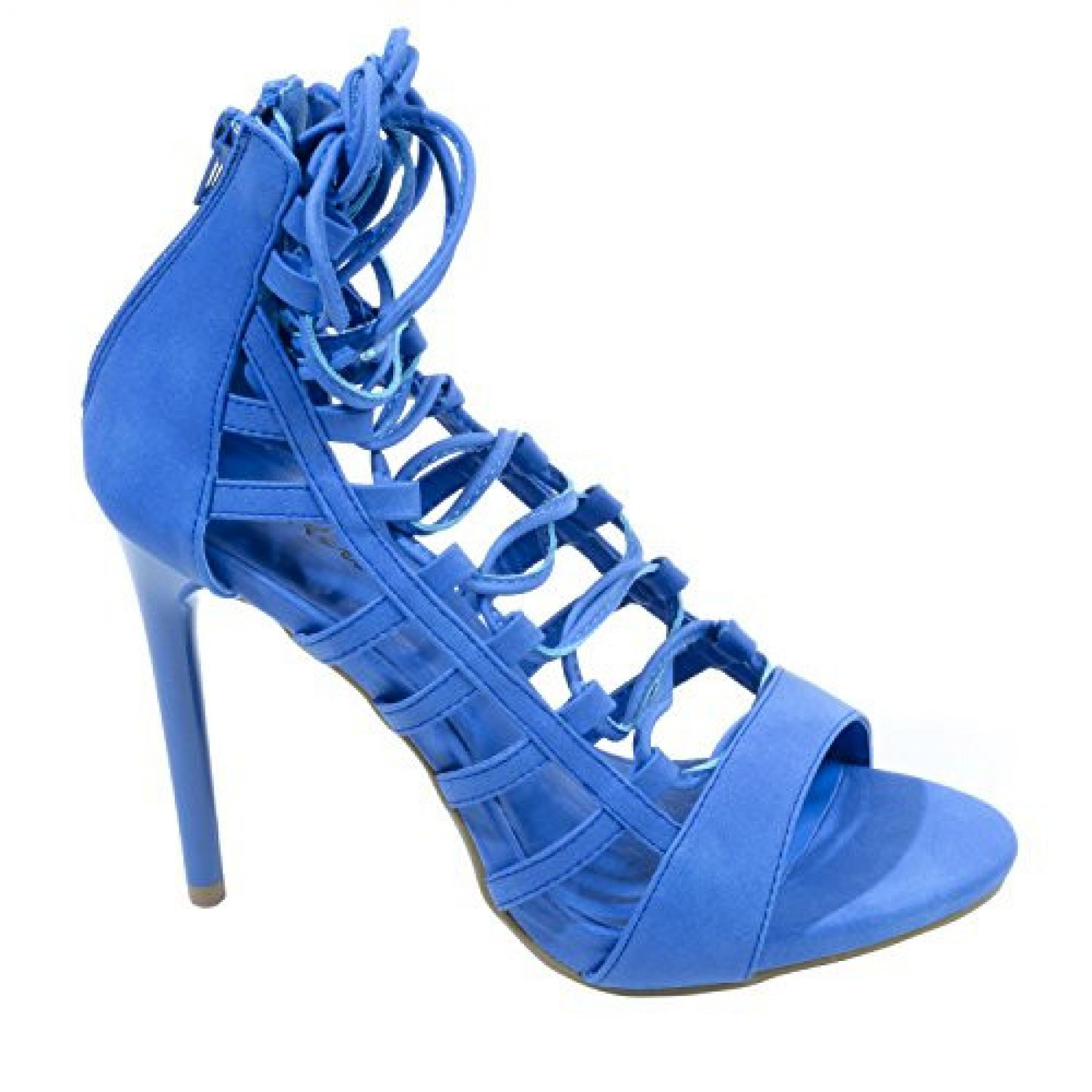 Women's RoyalBlue Valley Manmade Lace-up Stiletto Sandal