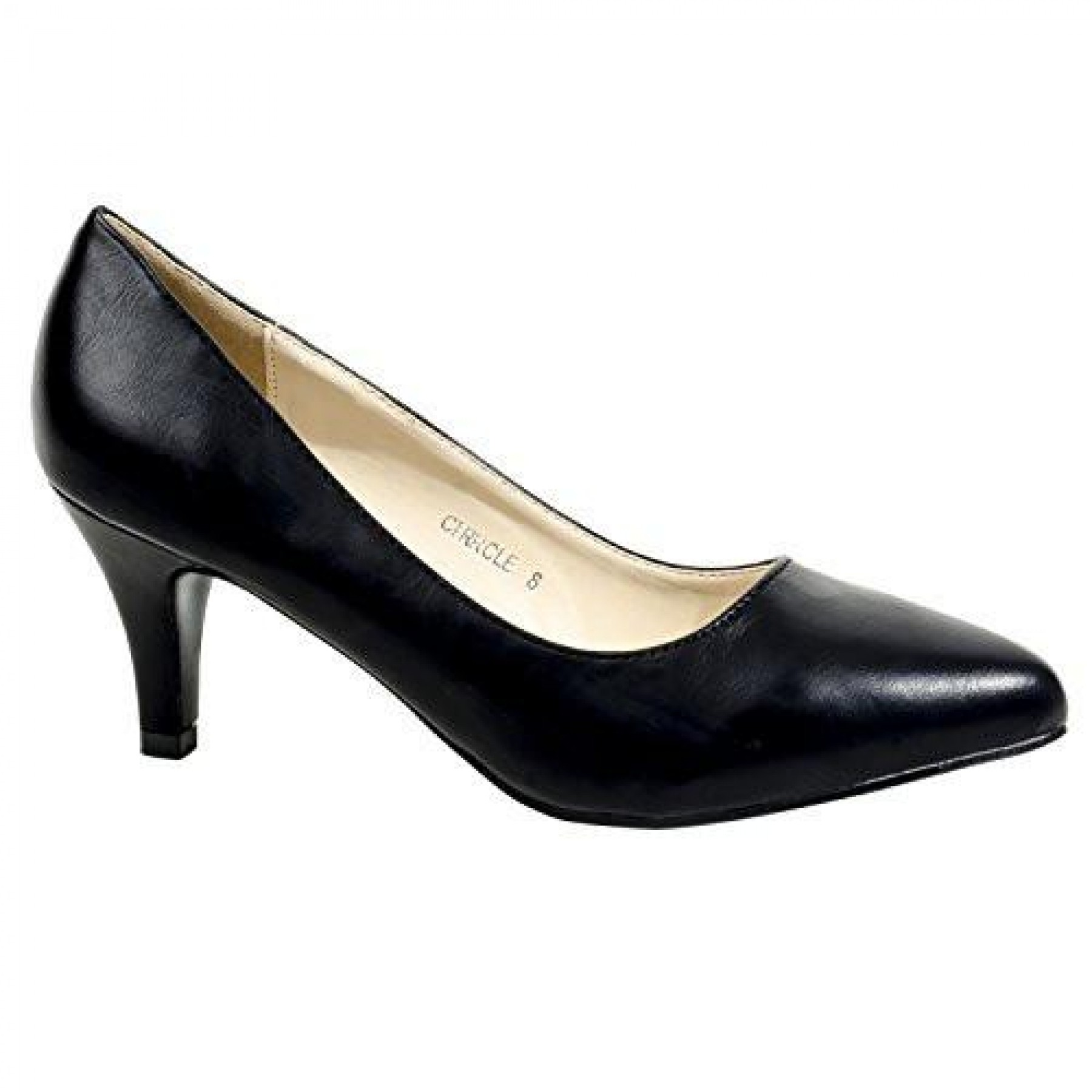 Women's Black Manmade Cirrcle 3-inch Classic Neutral Pump