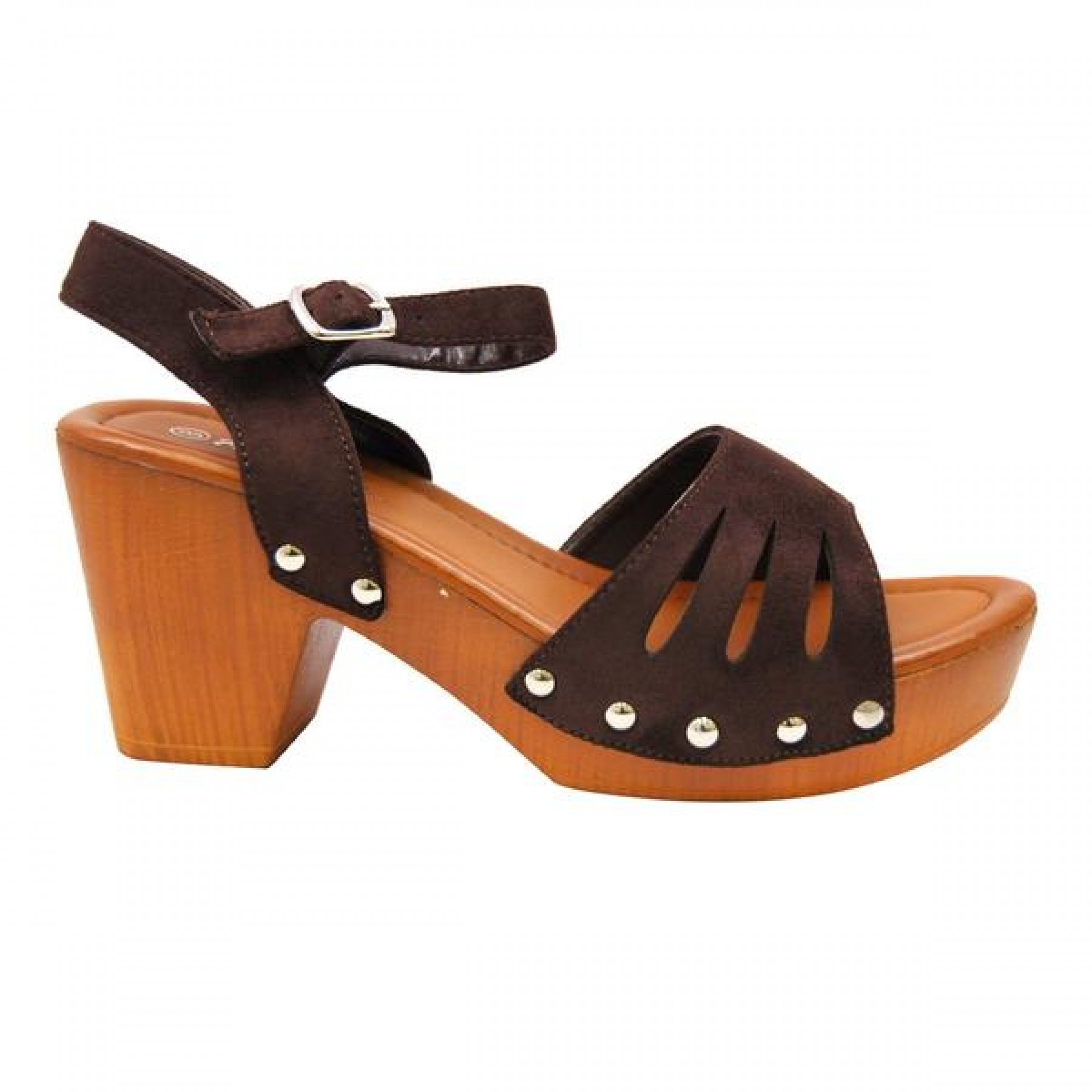 7ab5d1206e6 Women s Dark Brown Manmade Karrey 3-inch Heeled Sandal with ...