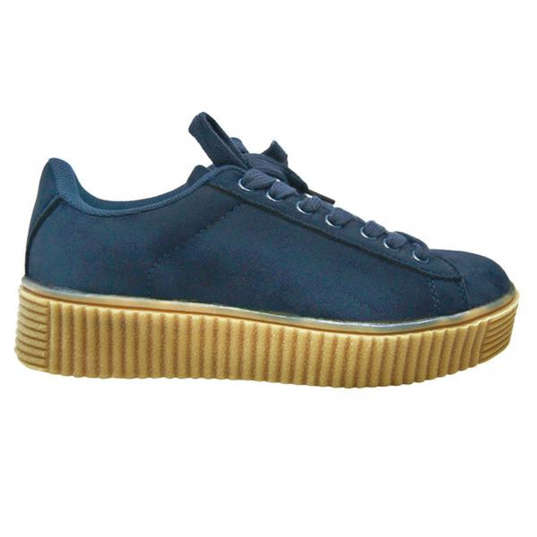 Women's Navy Platform Creeper Sneaker KATE - Navy