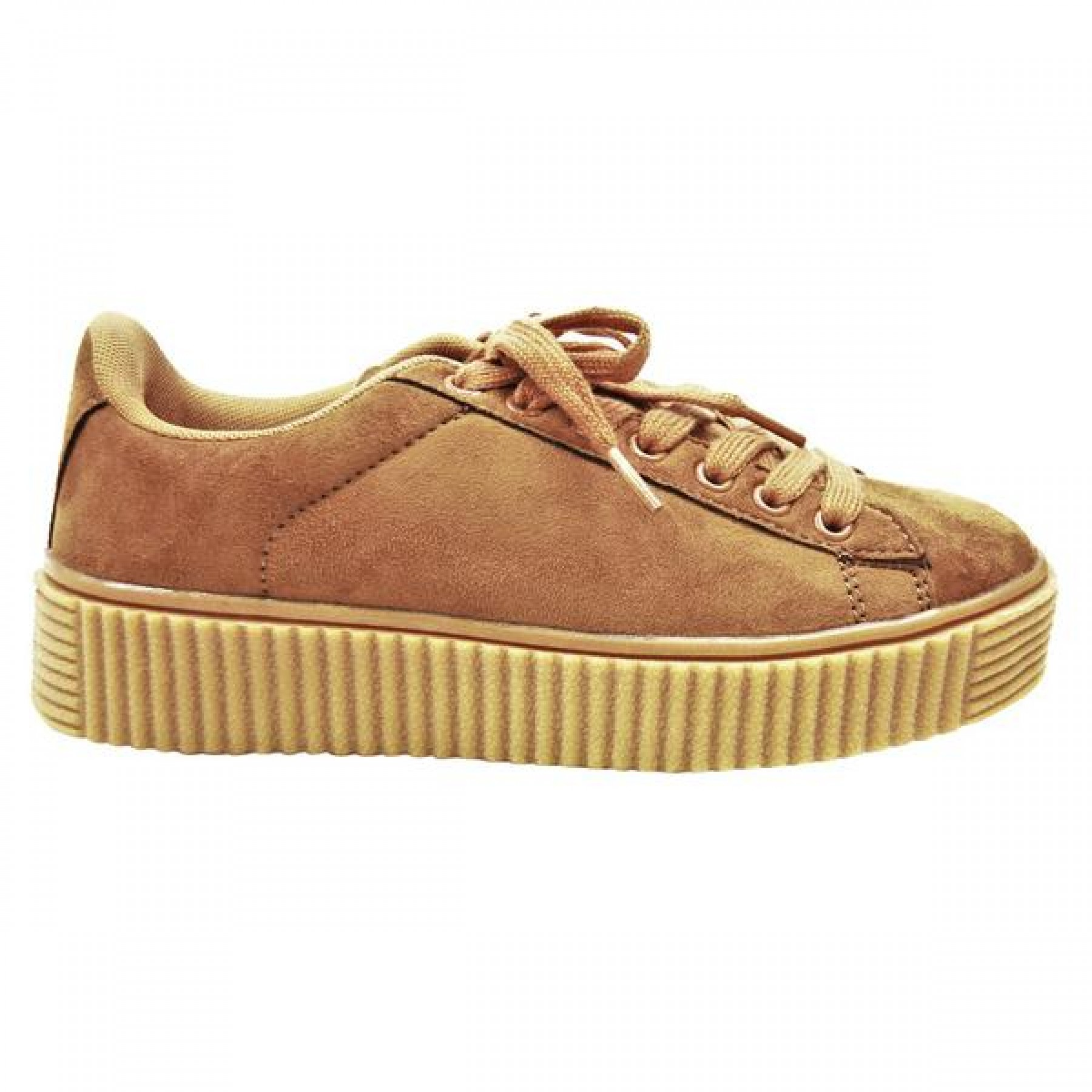 Women's Tan Platform Creeper Sneaker KATE - Tan