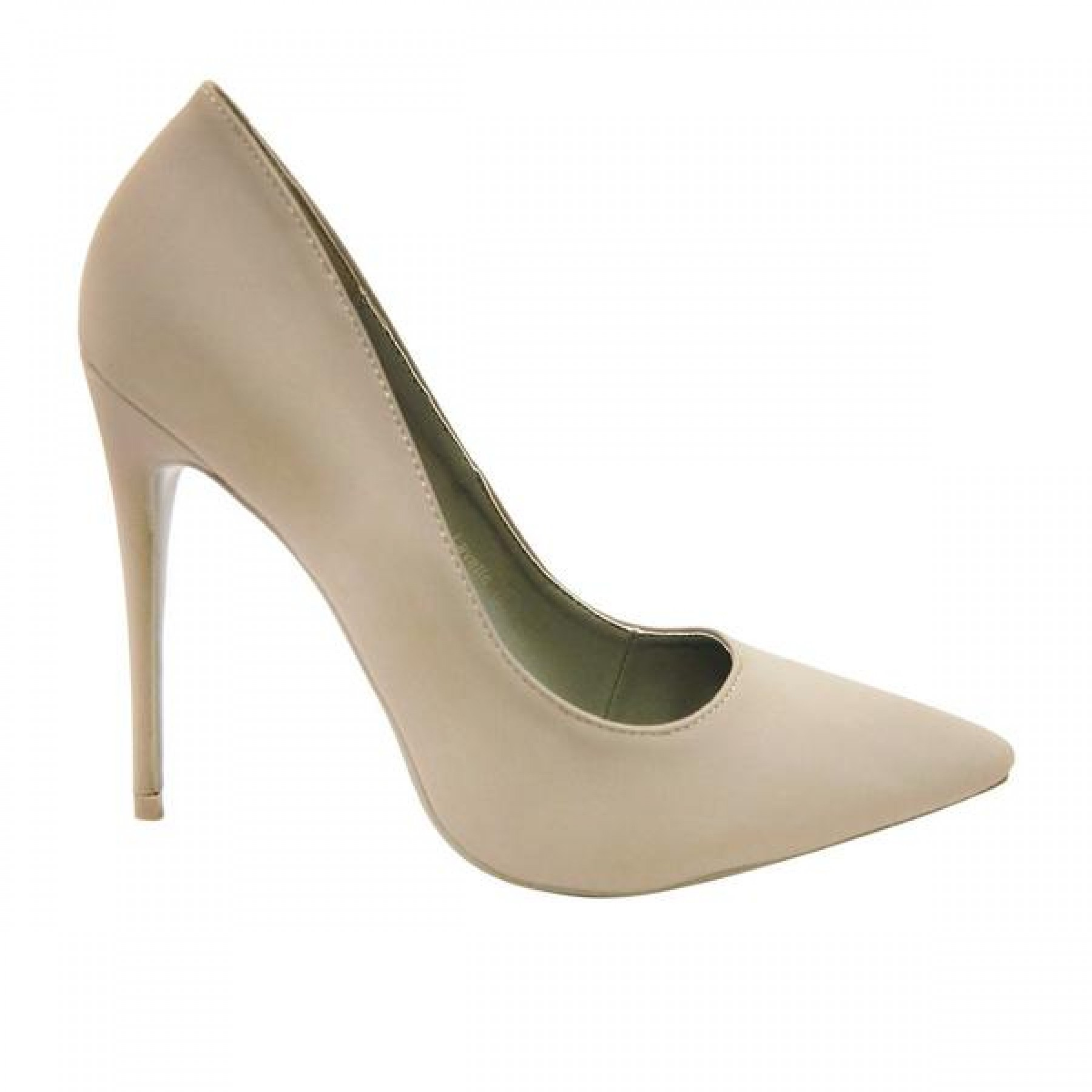 Women's Grey Pointed Toe Classic Pump LAVETTE
