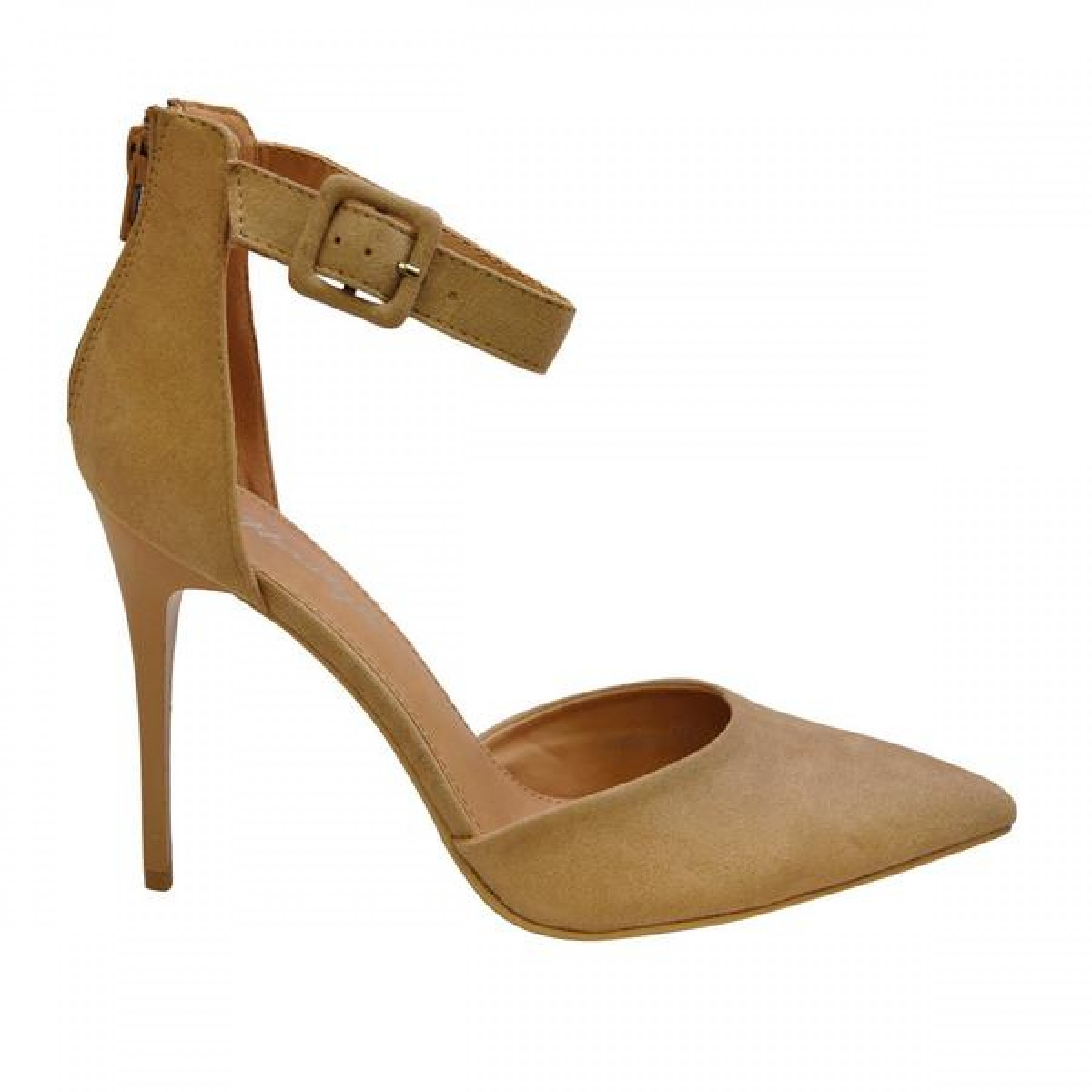 Women's Nude Manmade Natllia 4-inch D'Orsay Heel with Textured Upper