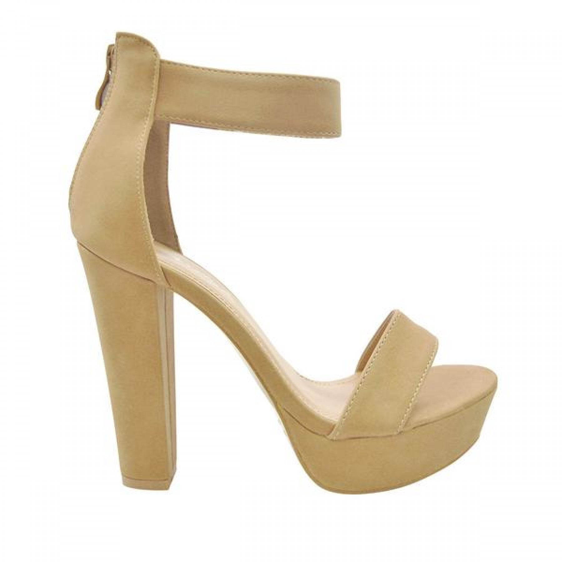 4-inch Heeled Sandal with Sueded Upper