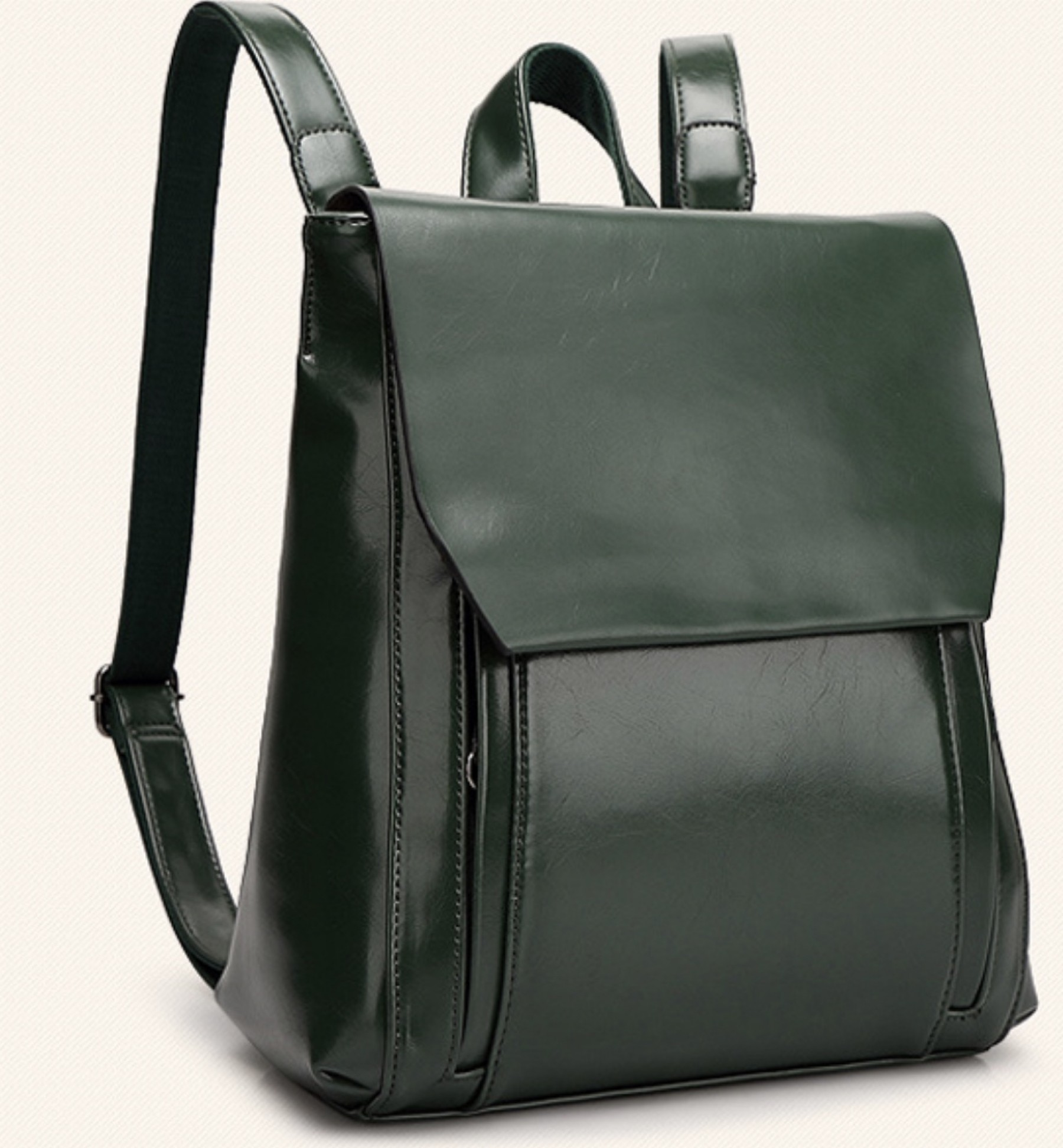 SZ9-16017- Women's Modern Style Classic Leather Backpack (Green)