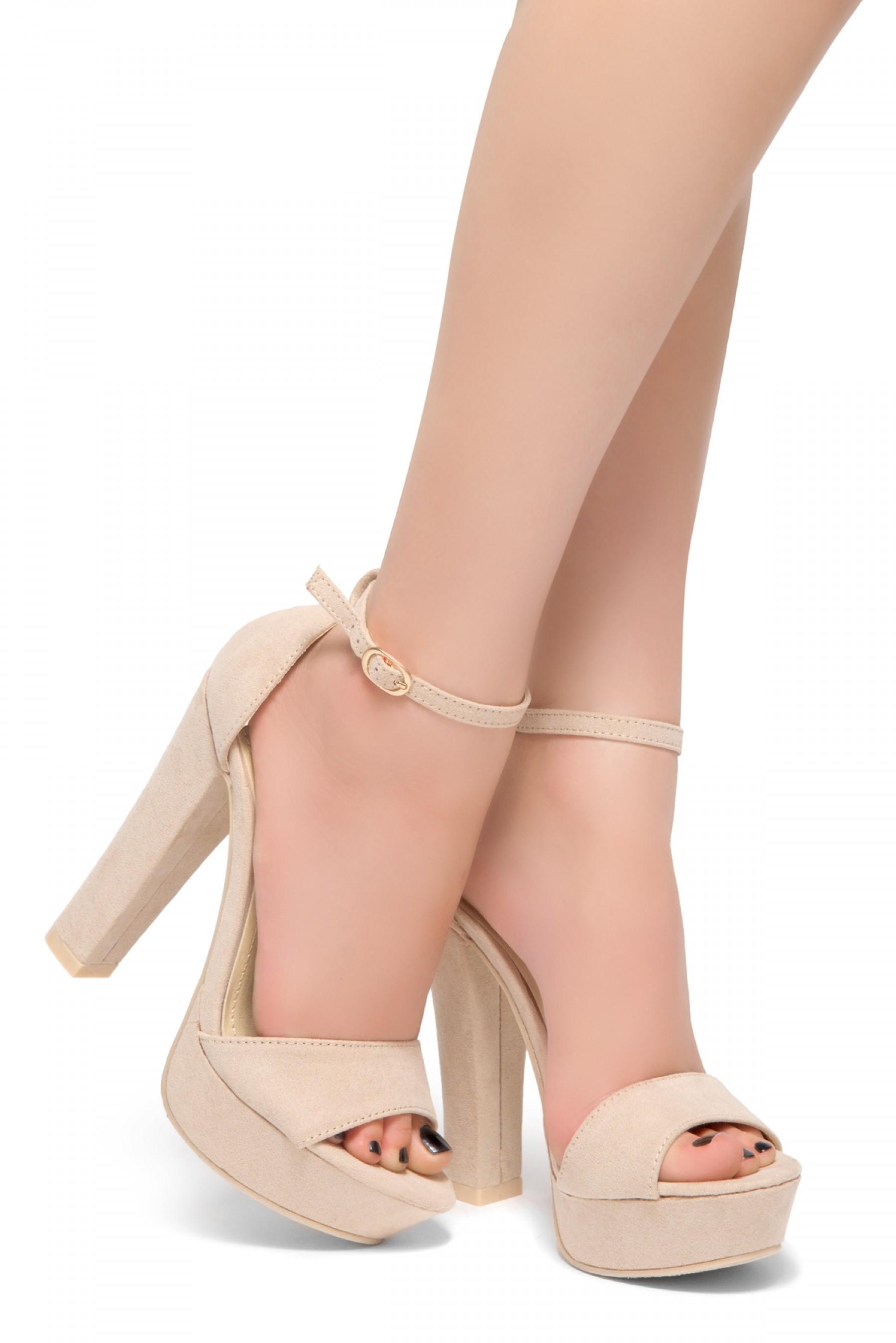 f1cc96903af HerStyle Island-Chunky heel, Adjustable Ankle Strap (Blush)