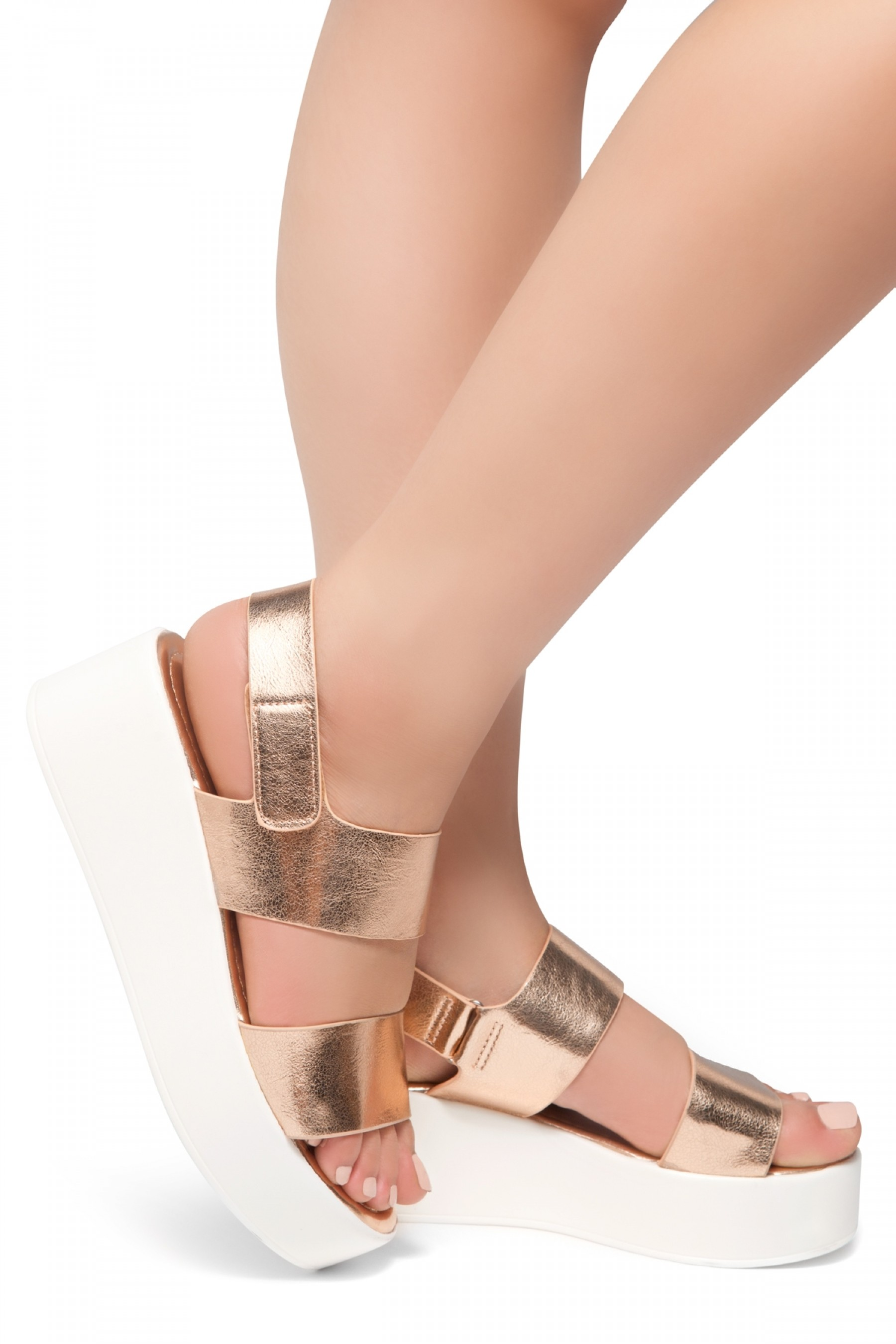 HerStyle Belma- Open Toe Velcro Strap Double-Banded Vamp with ...