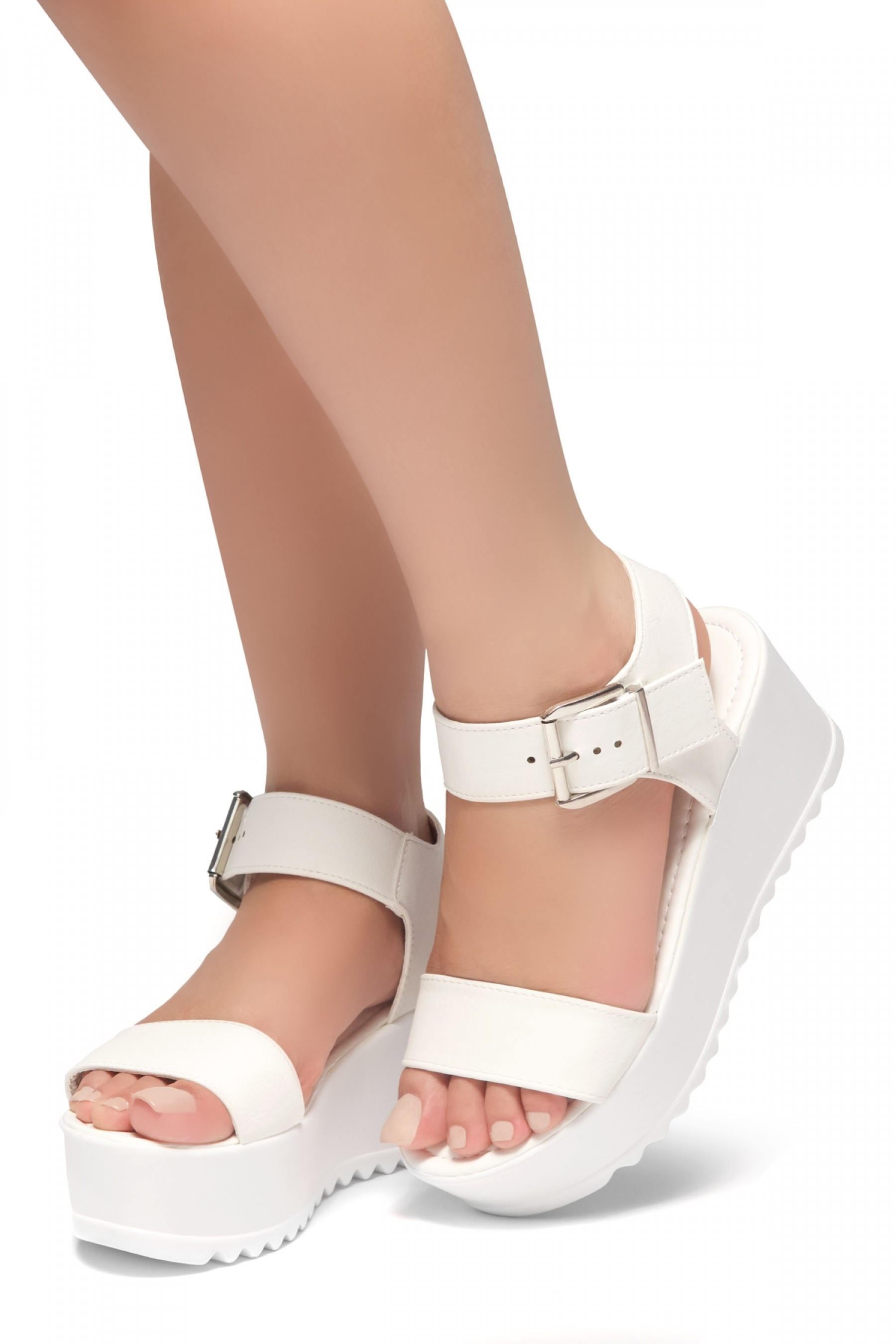 3ab47be2e6 White Faux Leather Ankle Strap Wedges @ Cicihot Wedges Shoes Store:Wedge  Shoes,Wedge Boots,Wedge Heels,Wedge Sandals,Dress Shoes,Summer Shoes,Spring  Shoes …