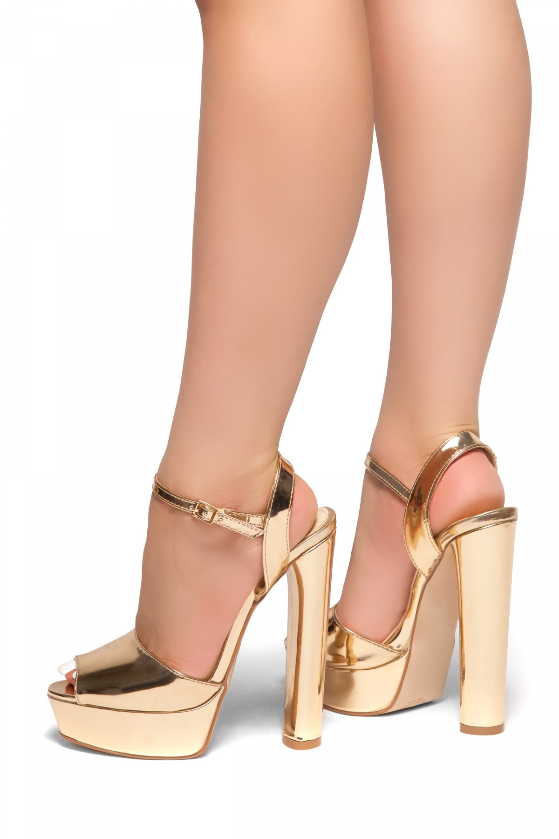 c311da90ec7 HerStyle CHASITY-Peep Toe Platform Heel (Rose Gold)