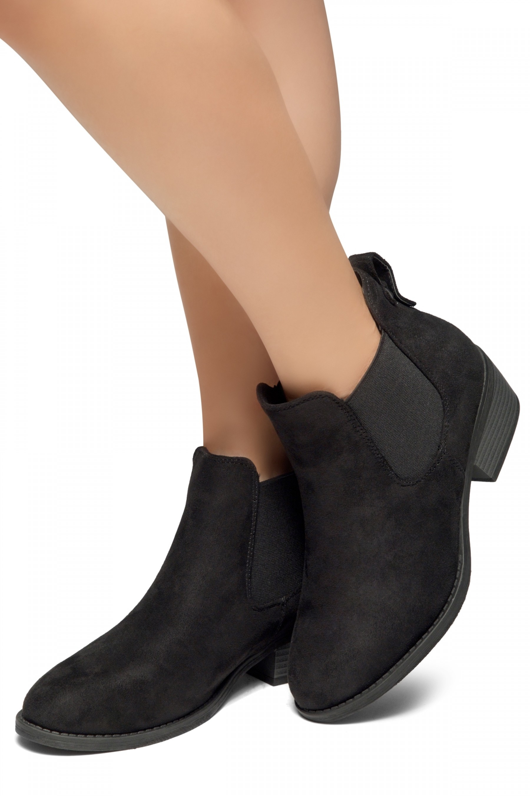 abc761edbe3 HerStyle Chelsea Booties-Casual Ankle Booties With Low Stacked ...