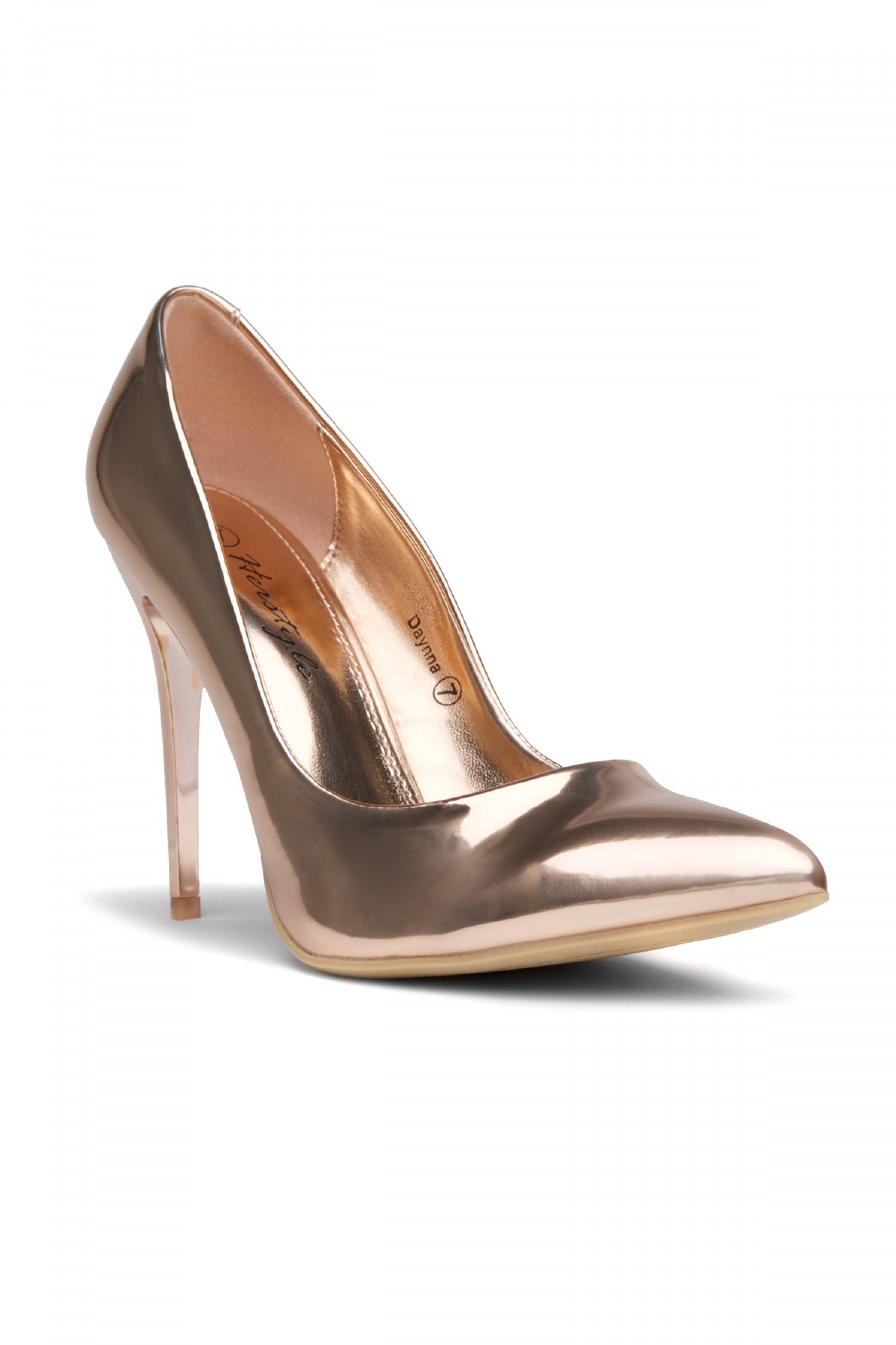 HerStyle Daynna Pointy Toe Stiletto Pump - Rose Gold