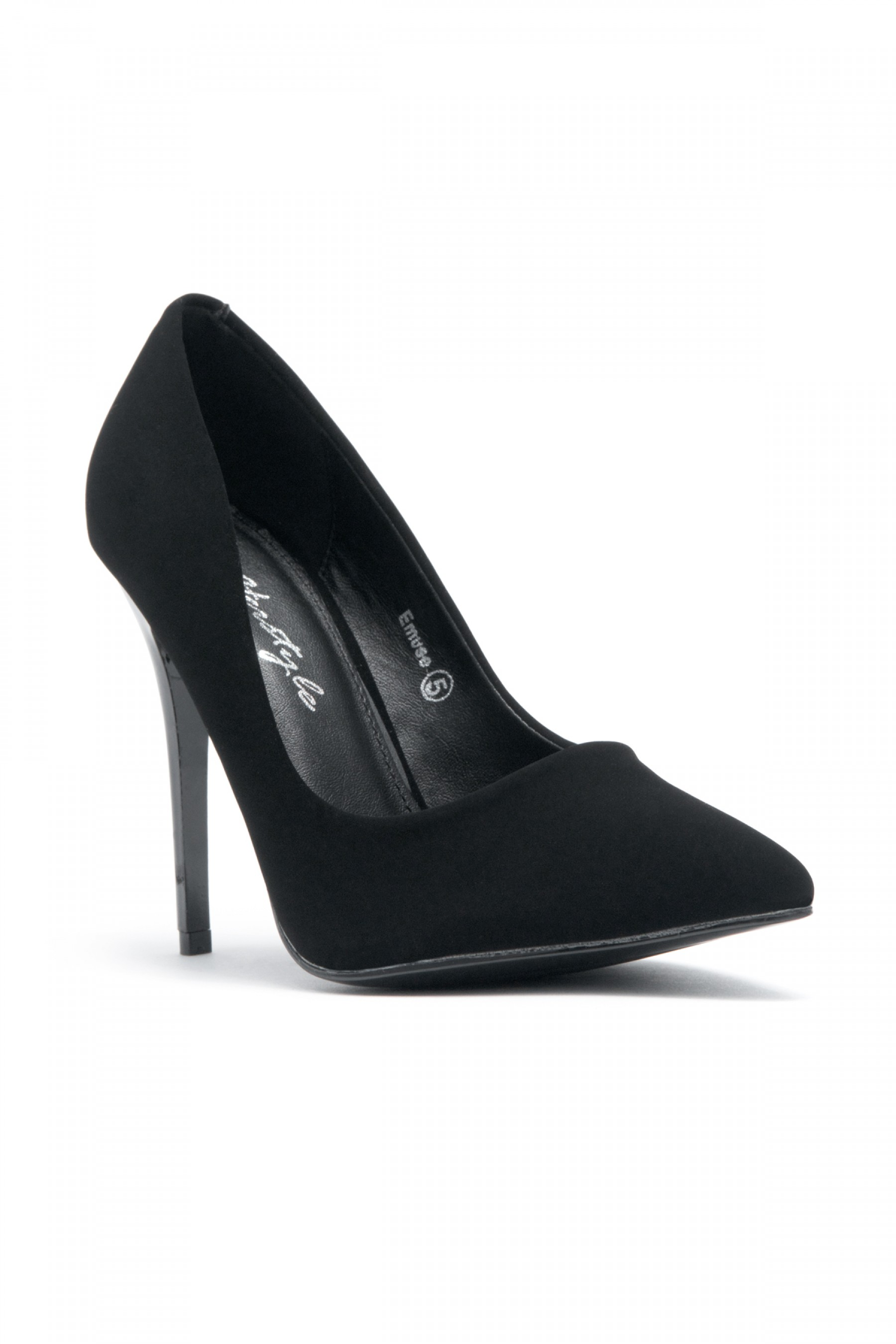 Women's Black Pointed Toe Classic Pump EMUSE