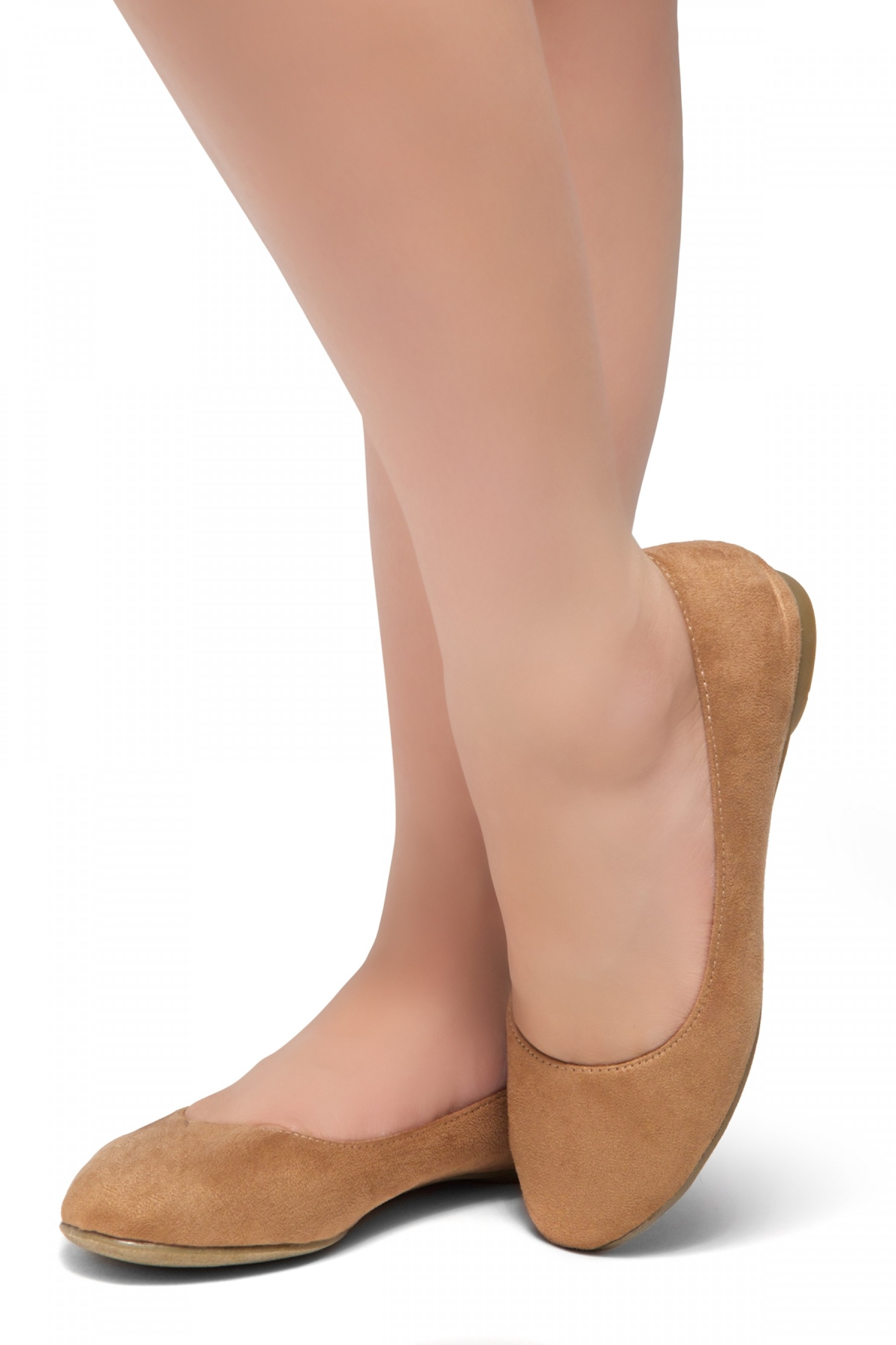 HerStyle Ever Memory -Almond Toe, No detail, Ballet Flat (Tan IM)