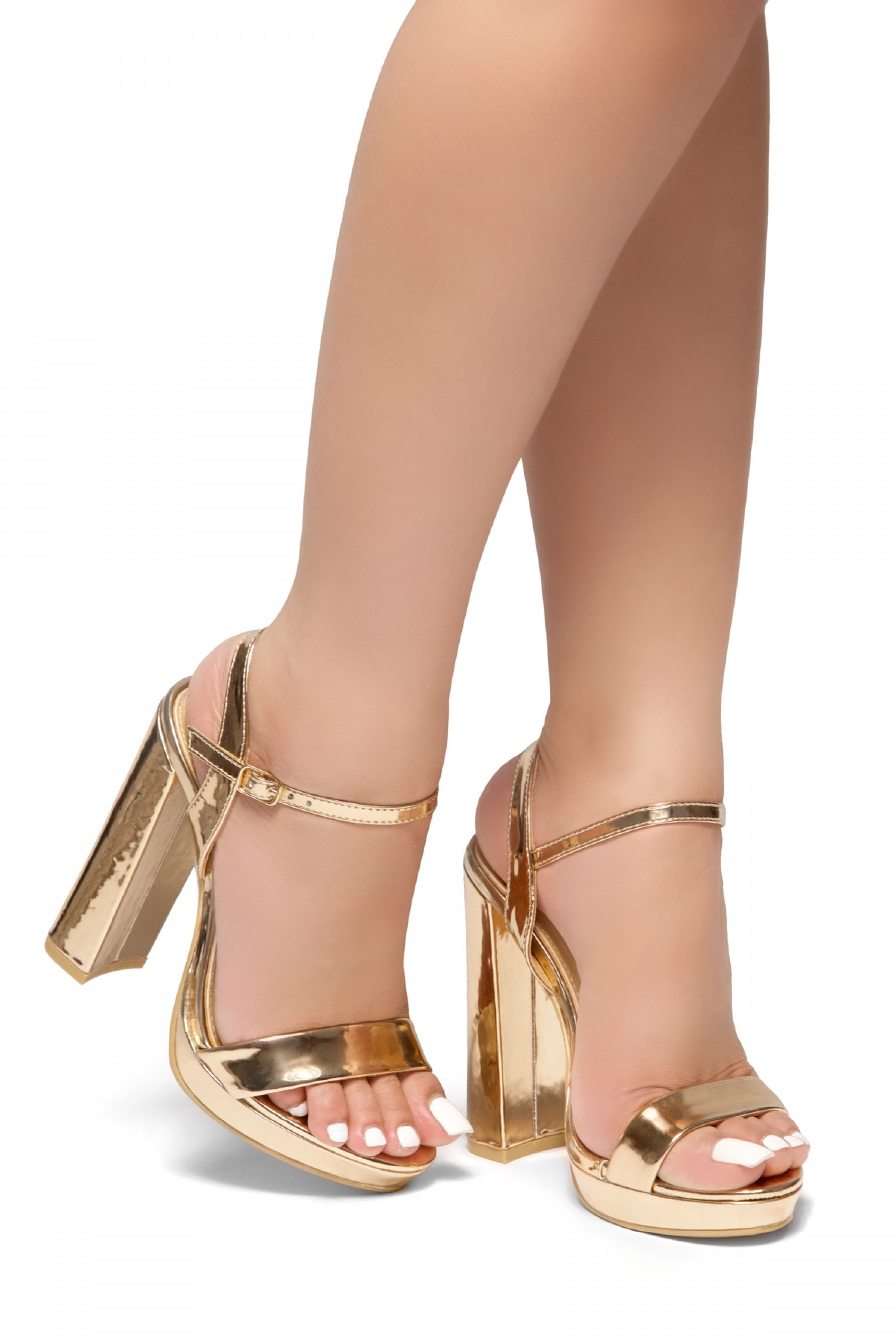 HerStyle Have it all-Open toe platform, ankle strap (RoseGold)