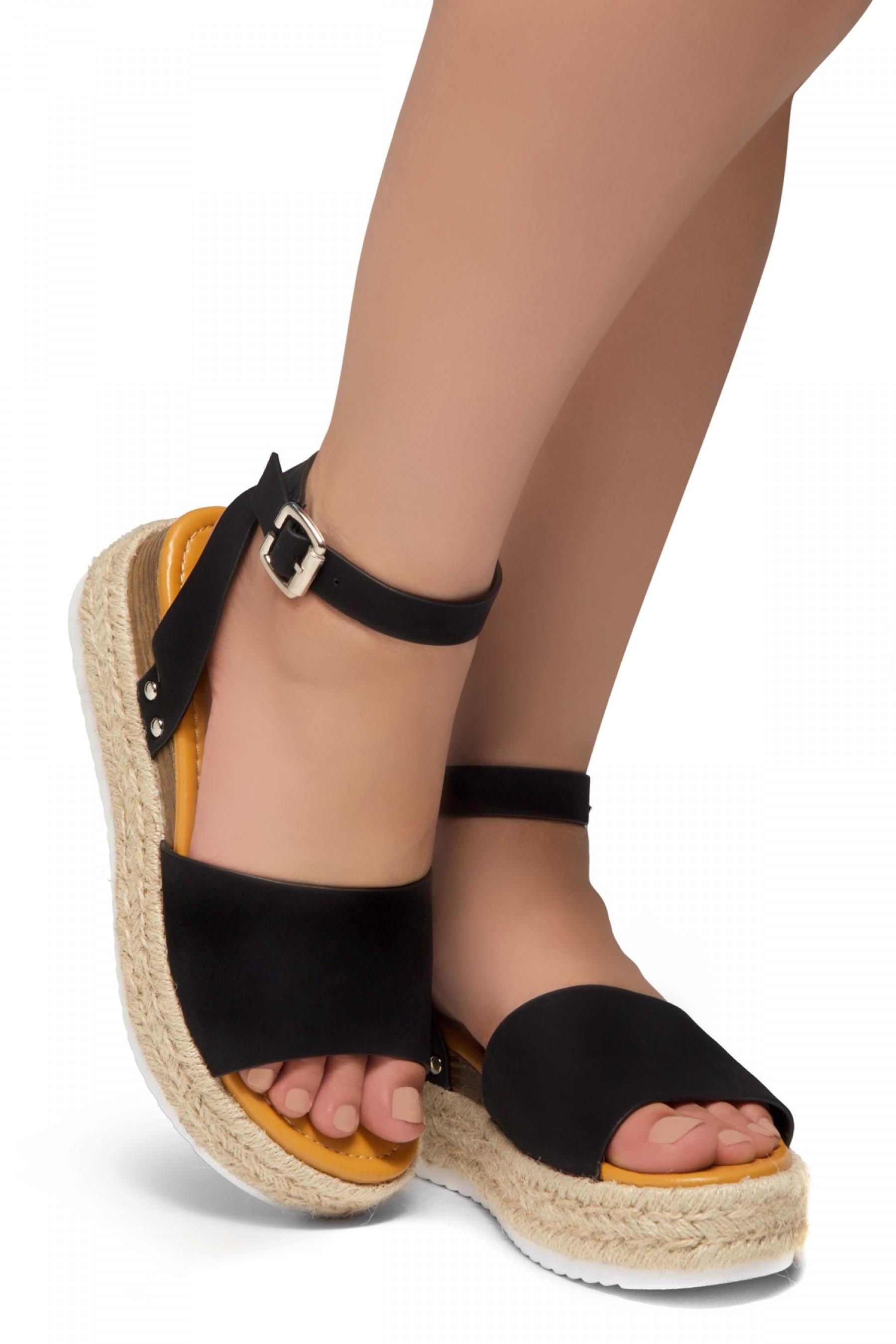 452ffeb0ff482 Shoe Land Legossa-Women's Open Toe Ankle Strap Platform Wedge ...