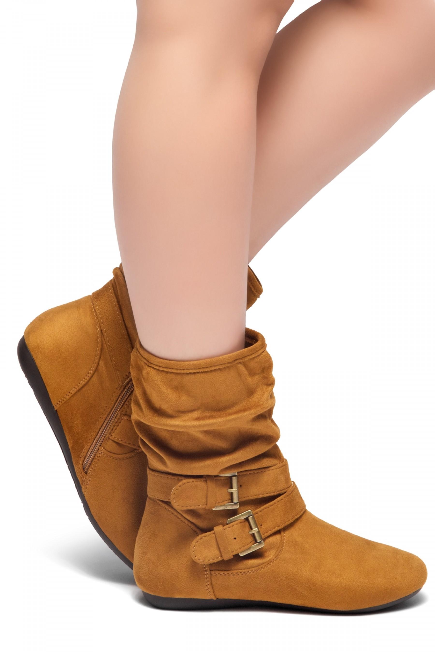 1026ef77580f8f Women s Cognac Lindell Women s Fashion Calf Flat Heel Side Zipper ...