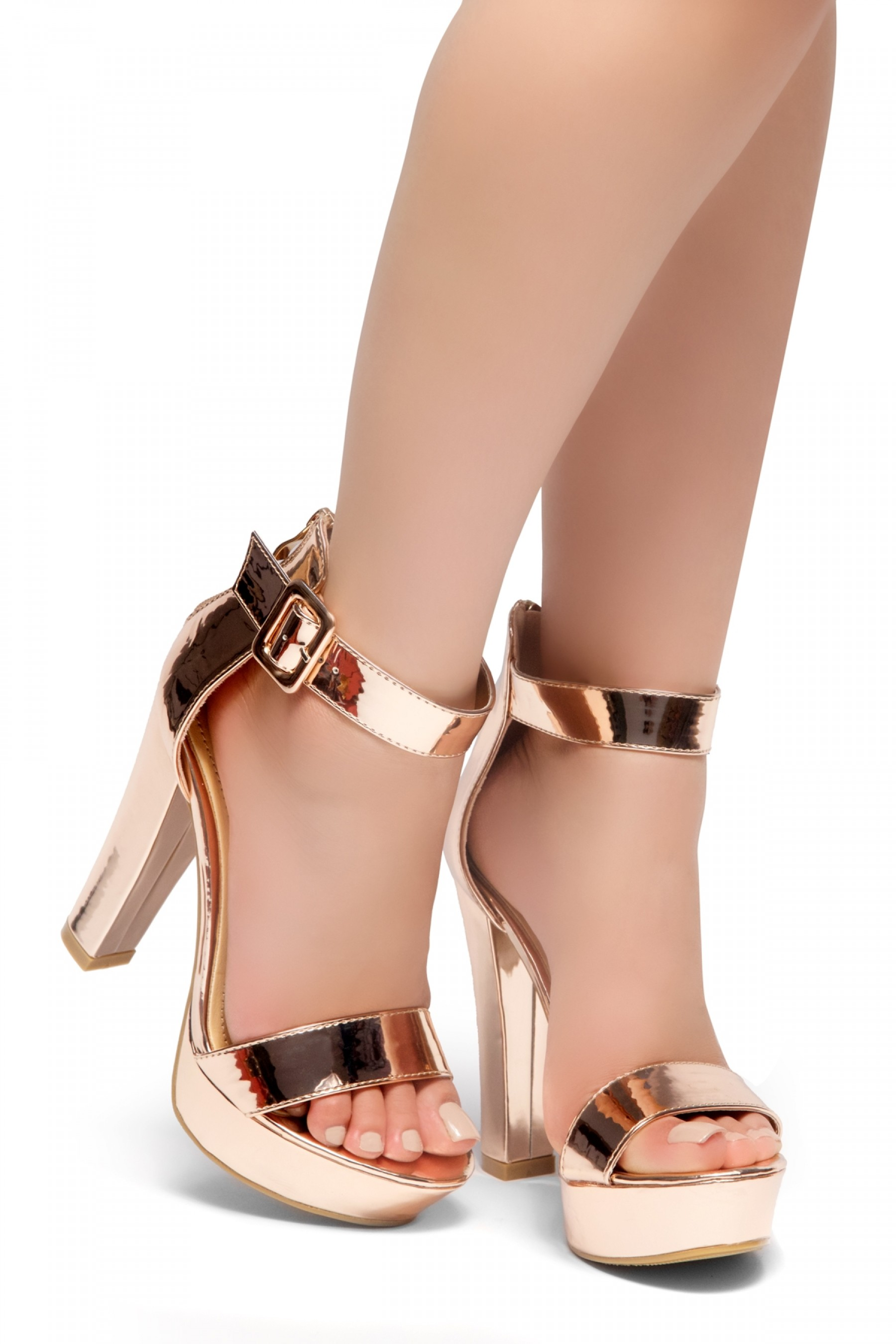 ba491ccdac1e5 HerStyle LOVE LIKE WHOA-Open Toe Ankle Strap Chunky Platform ...