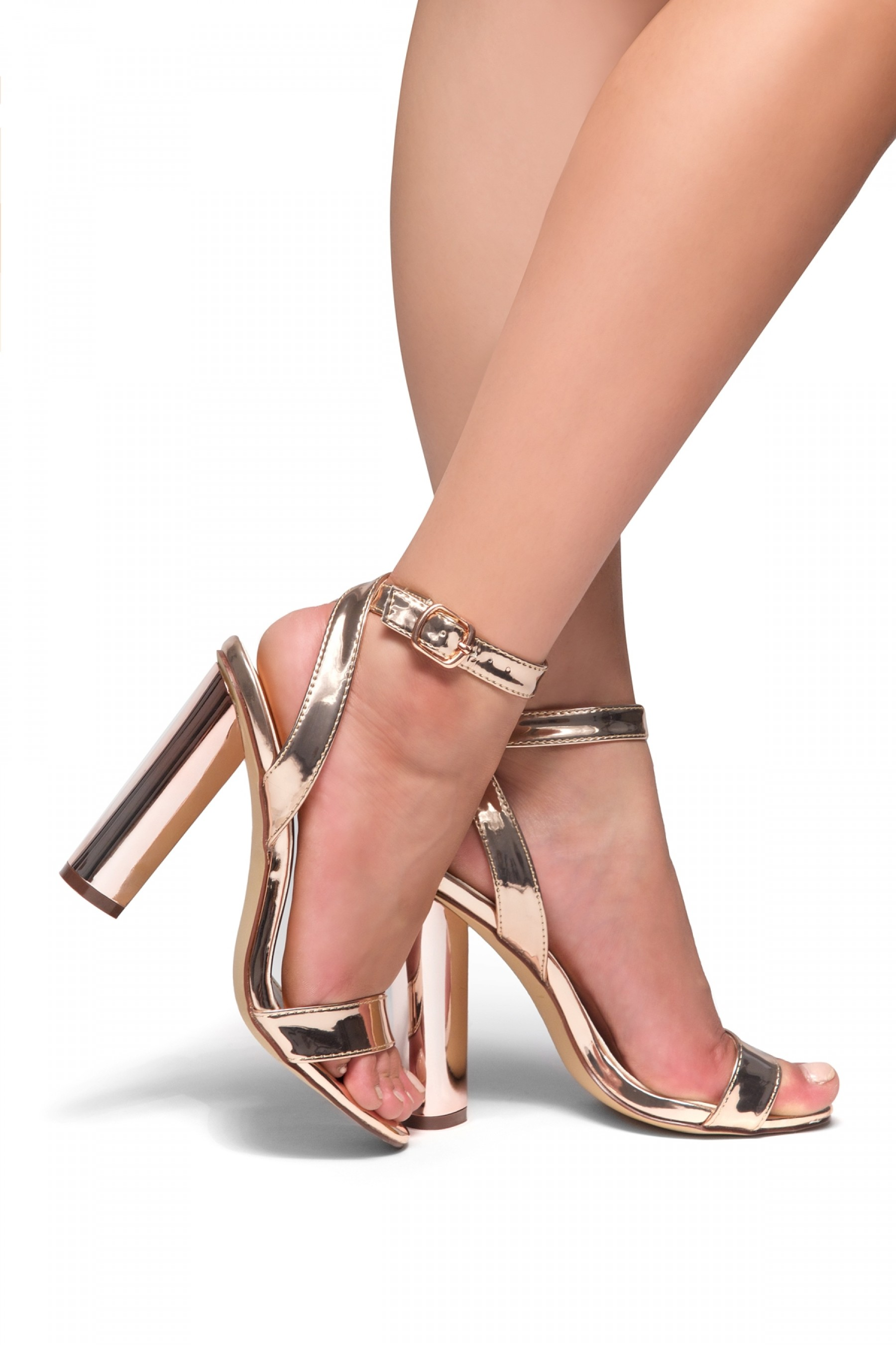 construction stiletto ankle herstyle strap anklet heel gladiator villarosa rose gold
