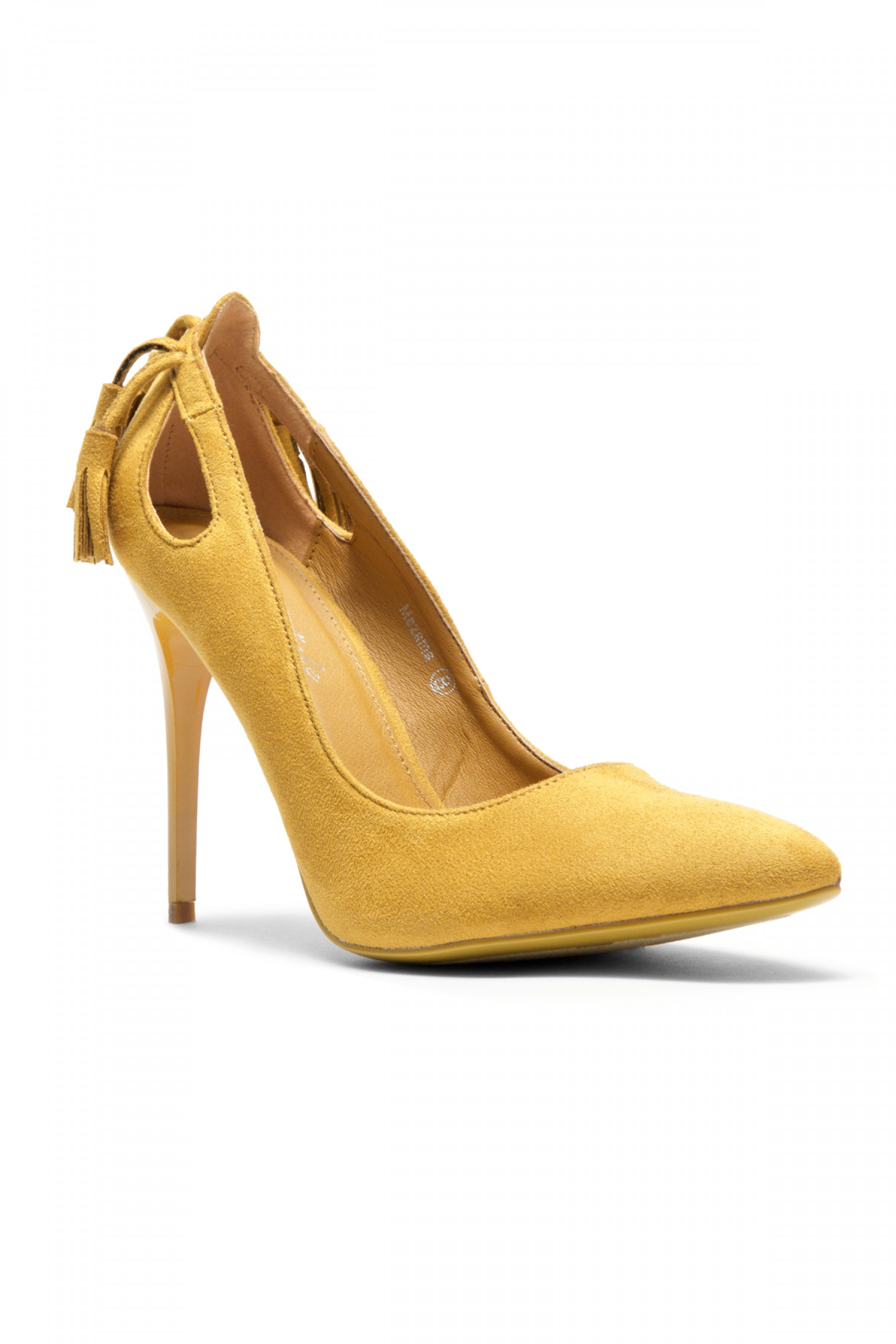 Women's Mustard Mazama 4-inch Pump Heel with Tassled Back
