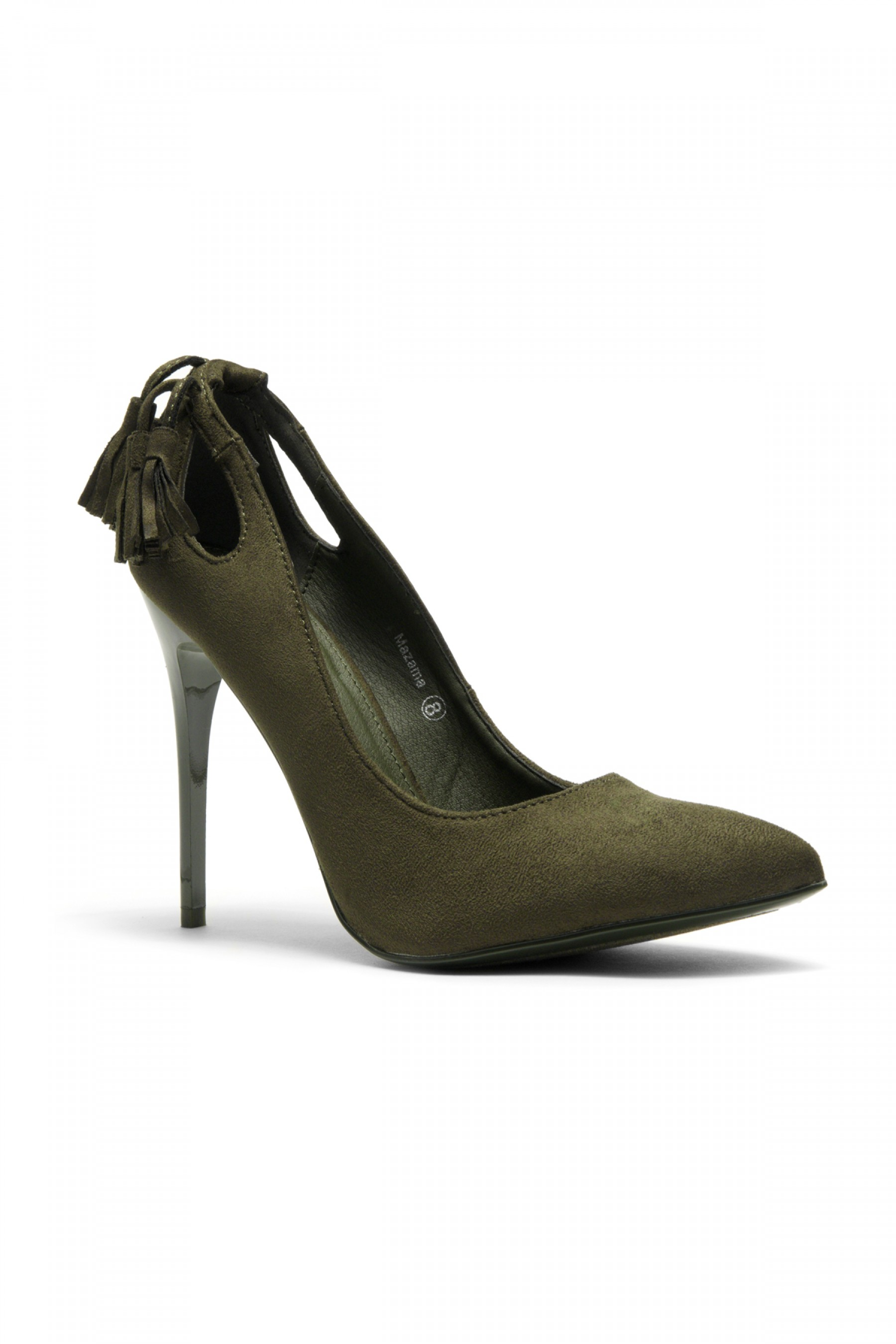 Women's Olive Mazama 4-inch Pump Heel with Tassled Back