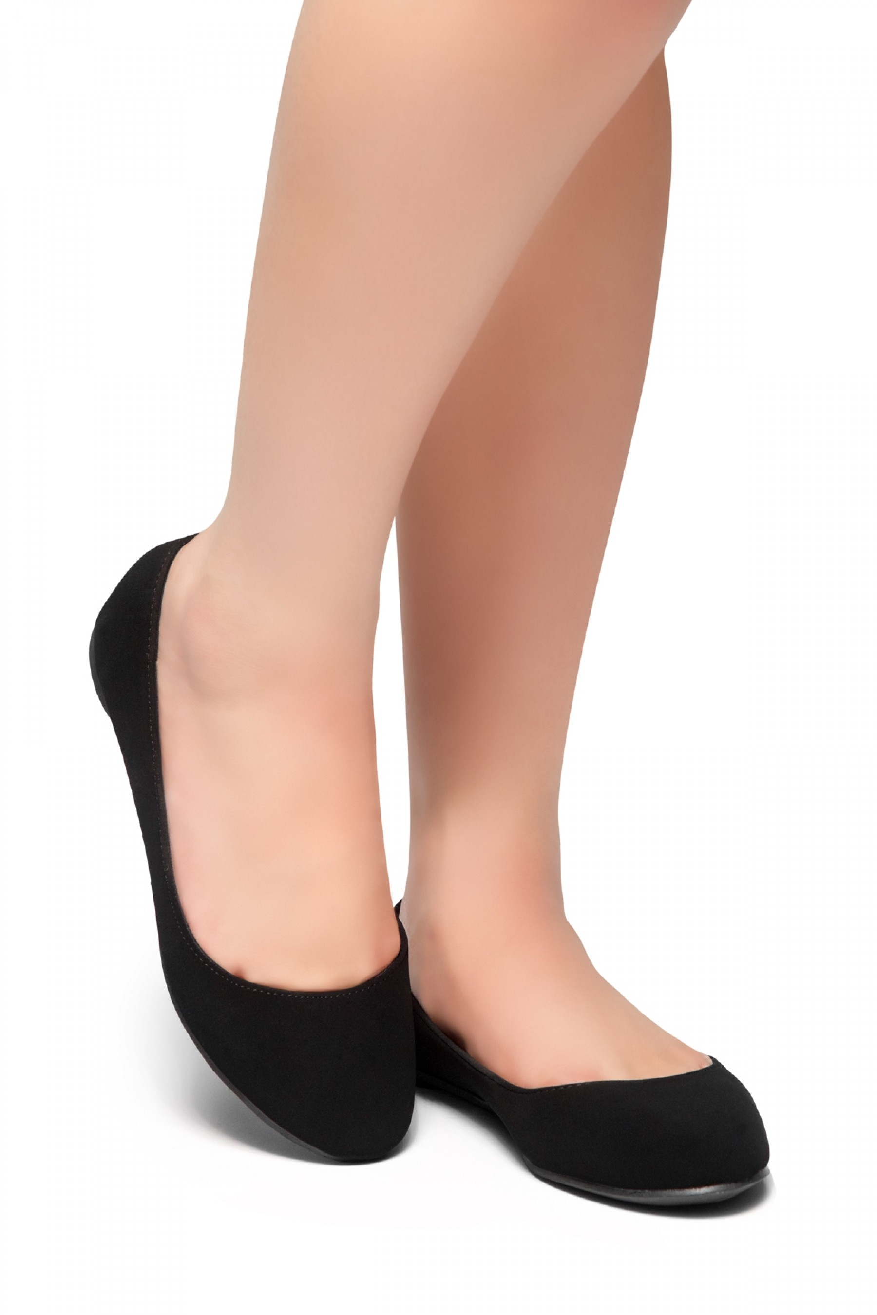 HerStyle New Memory-Round Toe, No detail, Ballet Flat (Black)