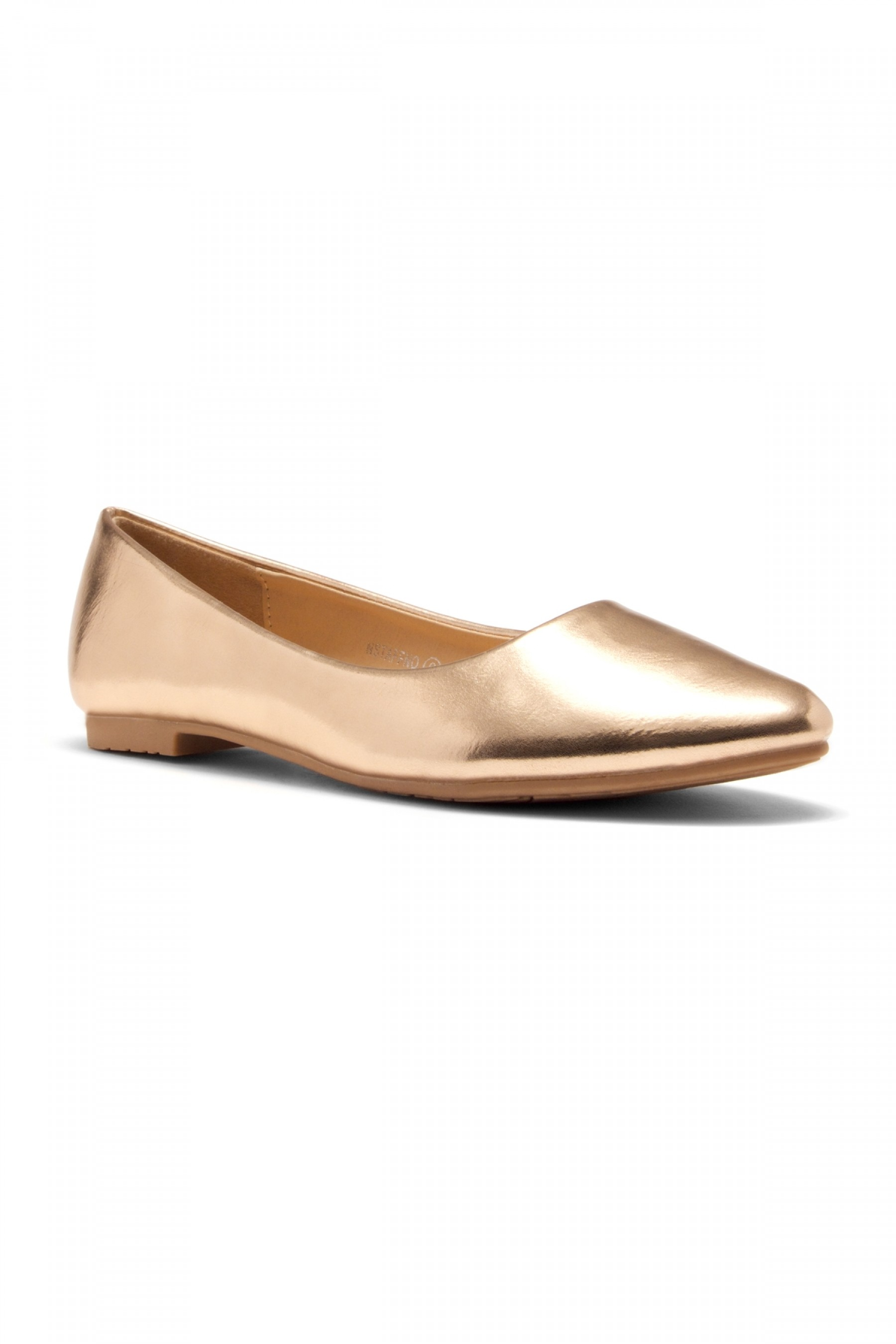 HerStyle Women's Manmade Nstaffno Simple Faux Suede Pointy Toe Flats (Rose Gold)