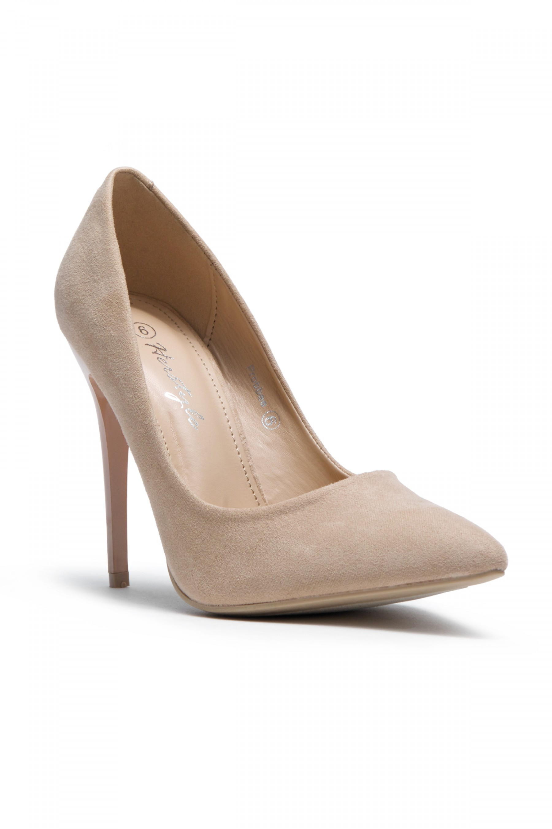 HerStyle Women's Manmade Probbee 4.5-inch Classic Sueded Pump (Nude)