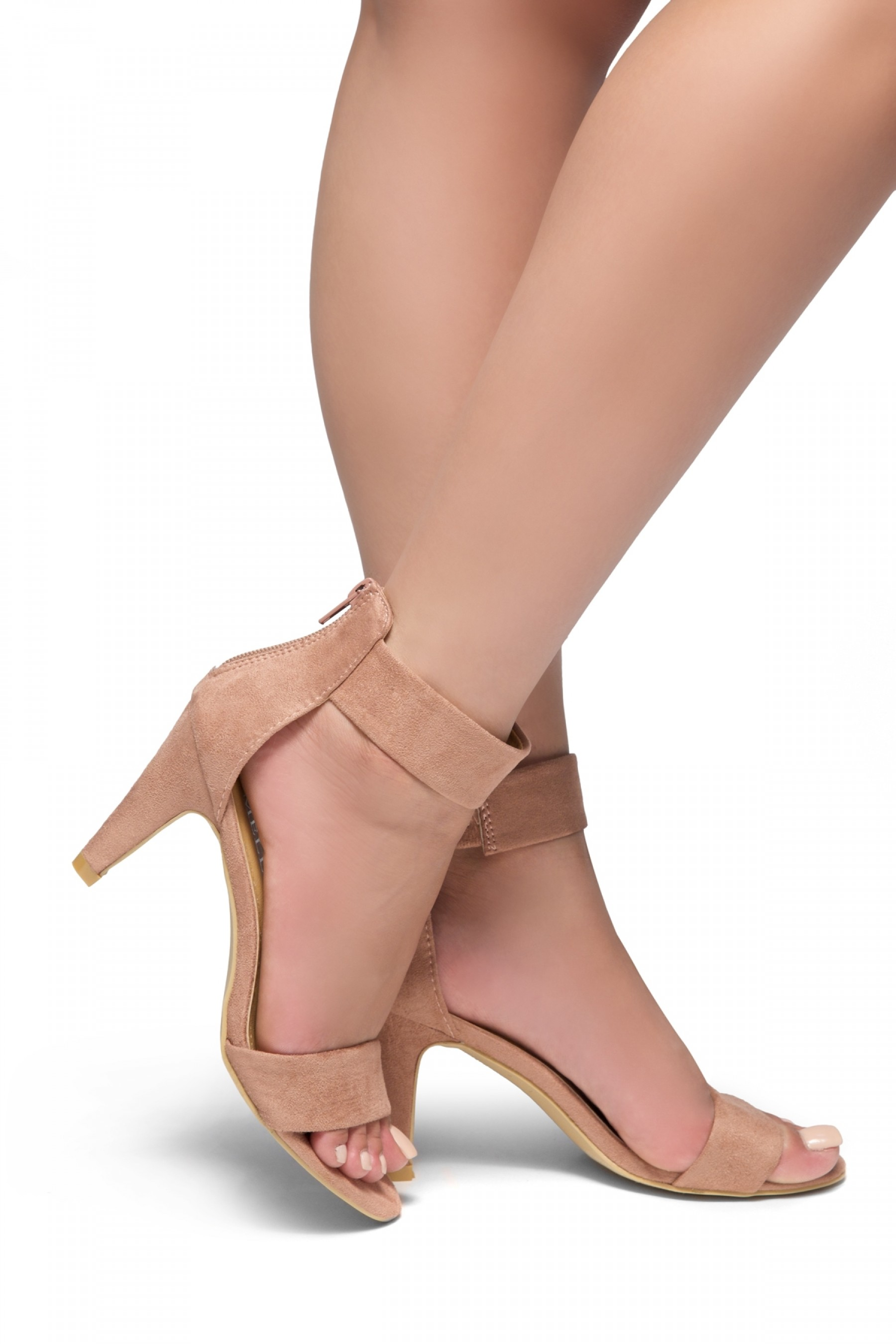 HerStyle RRose-Stiletto heel, back zipper closure (Mauve)