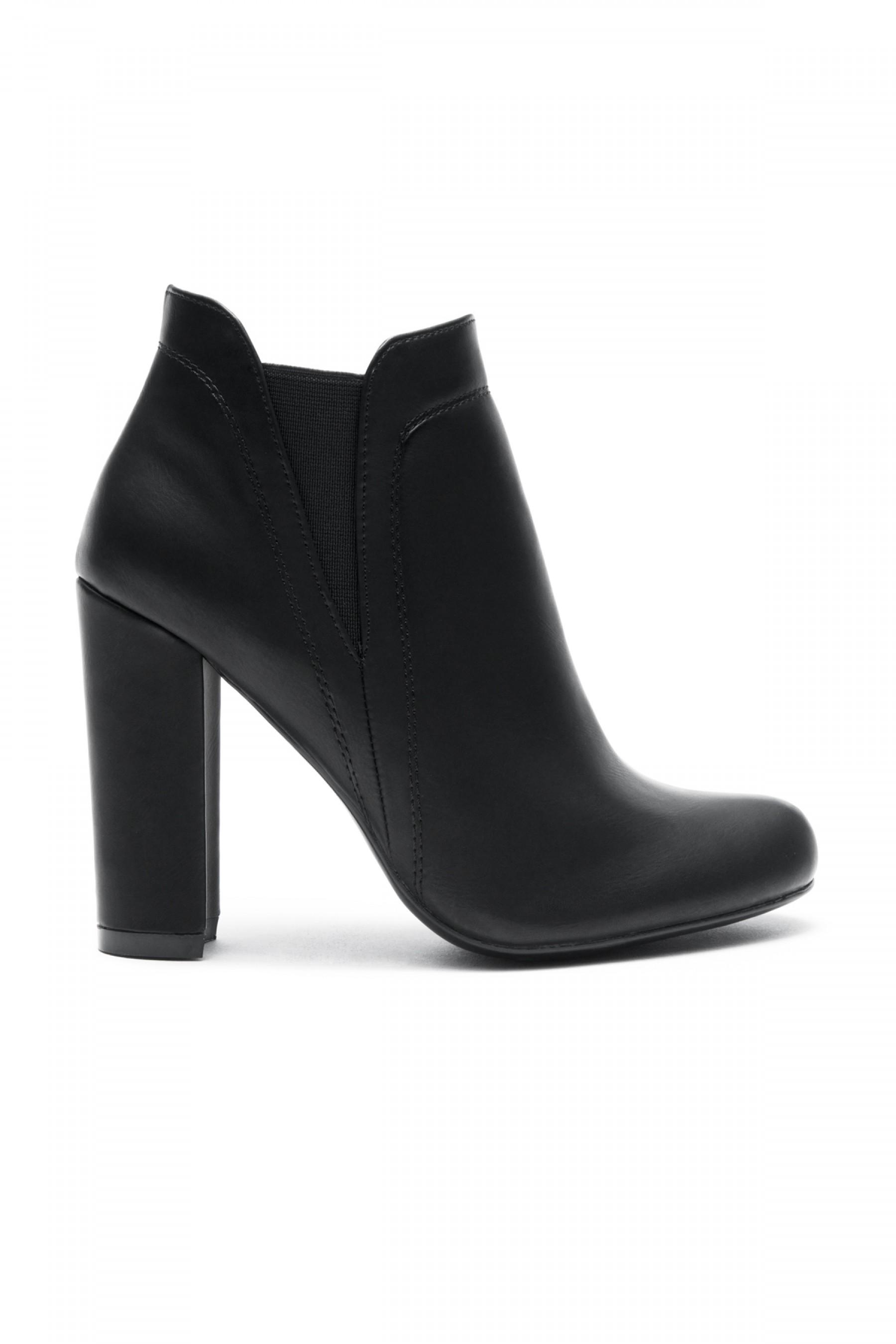 Women's Black Rue Elastic Gores Chunky Heel Booties