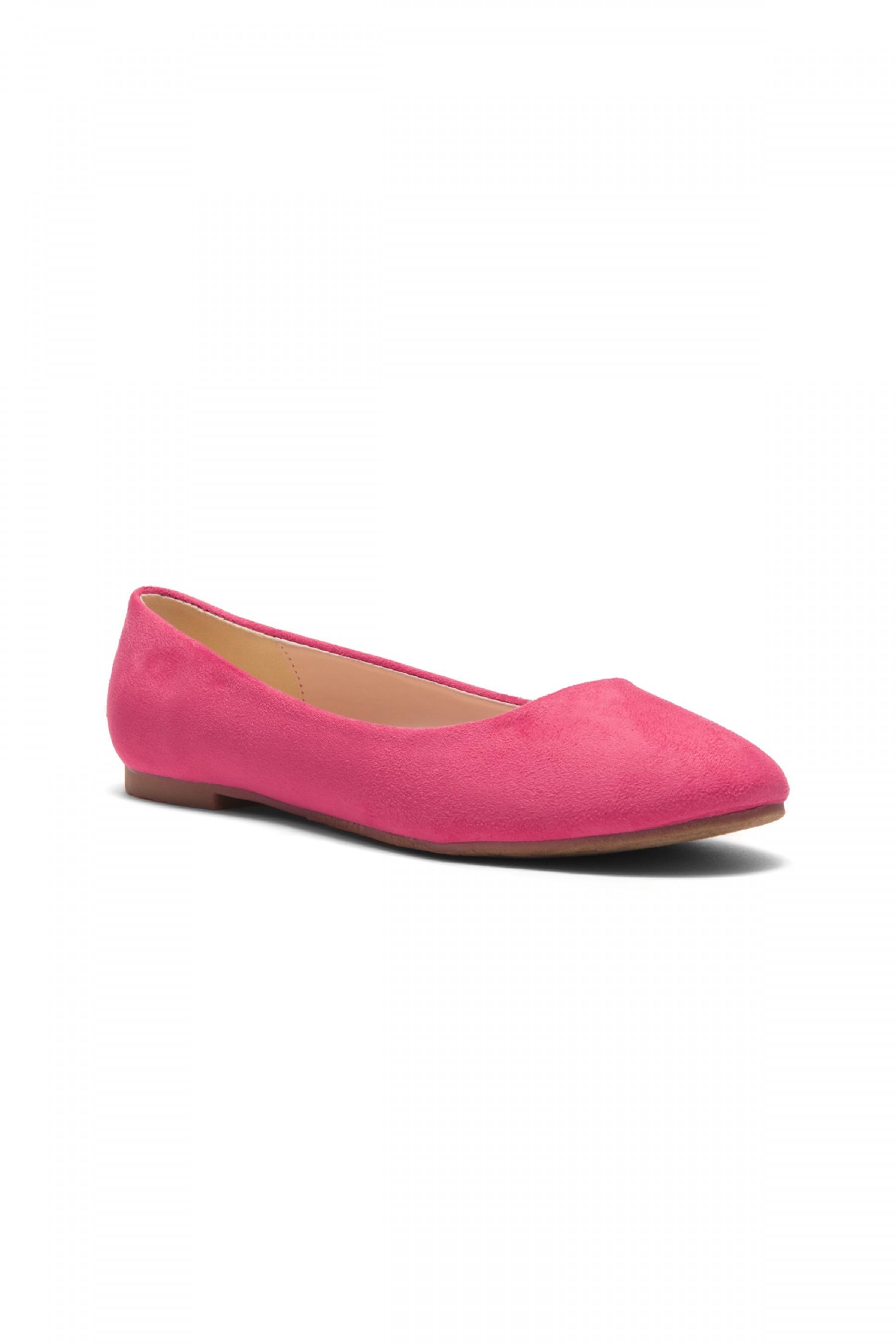 HerStyle Women's Manmade Sammba Colorful Ballet Flat (Fuchsia)