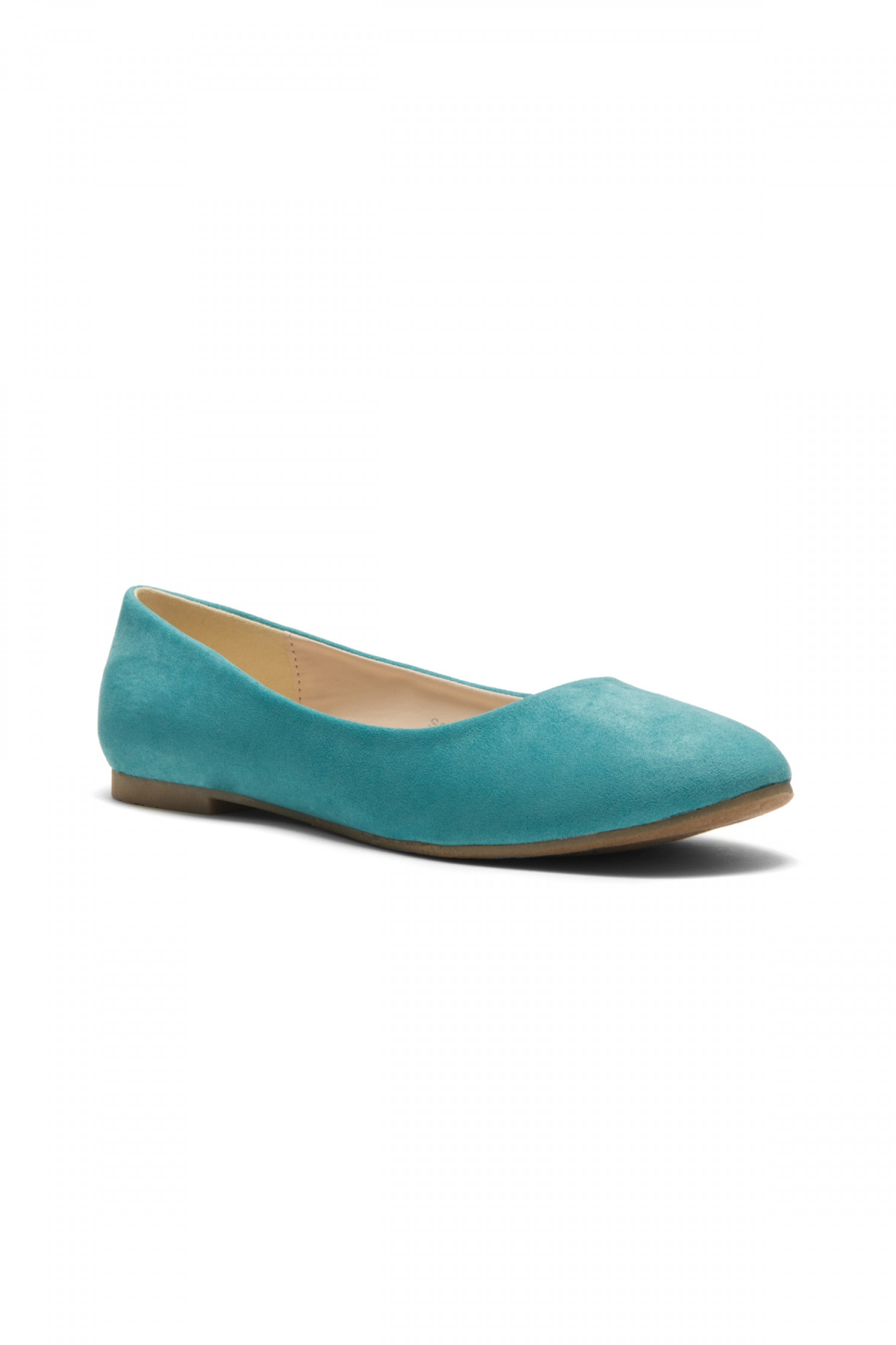 HerStyle Women's Manmade Sammba Colorful Ballet Flat (Teal)