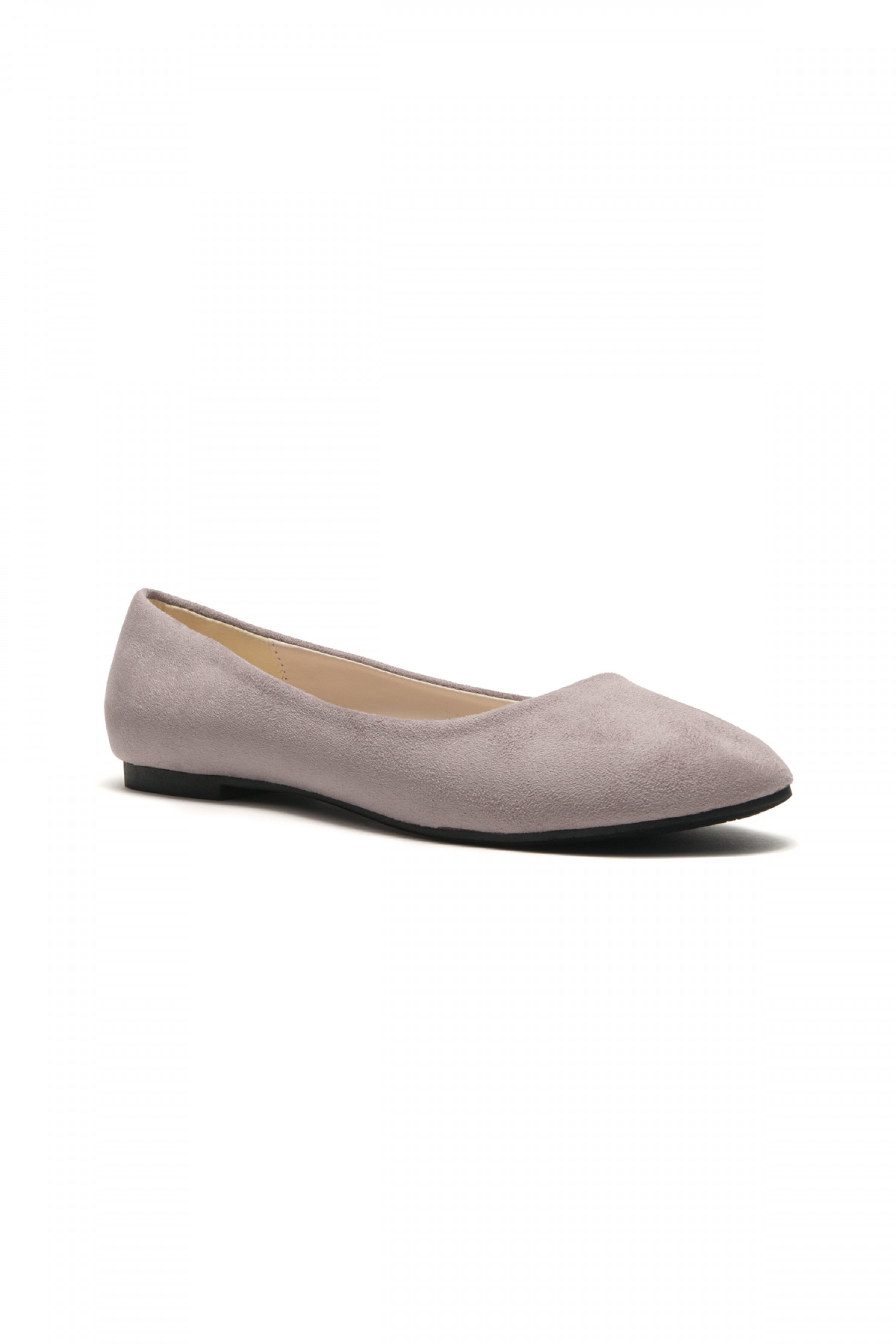 HerStyle Women's Manmade Sammba Colorful Ballet Flat (Light Grey)