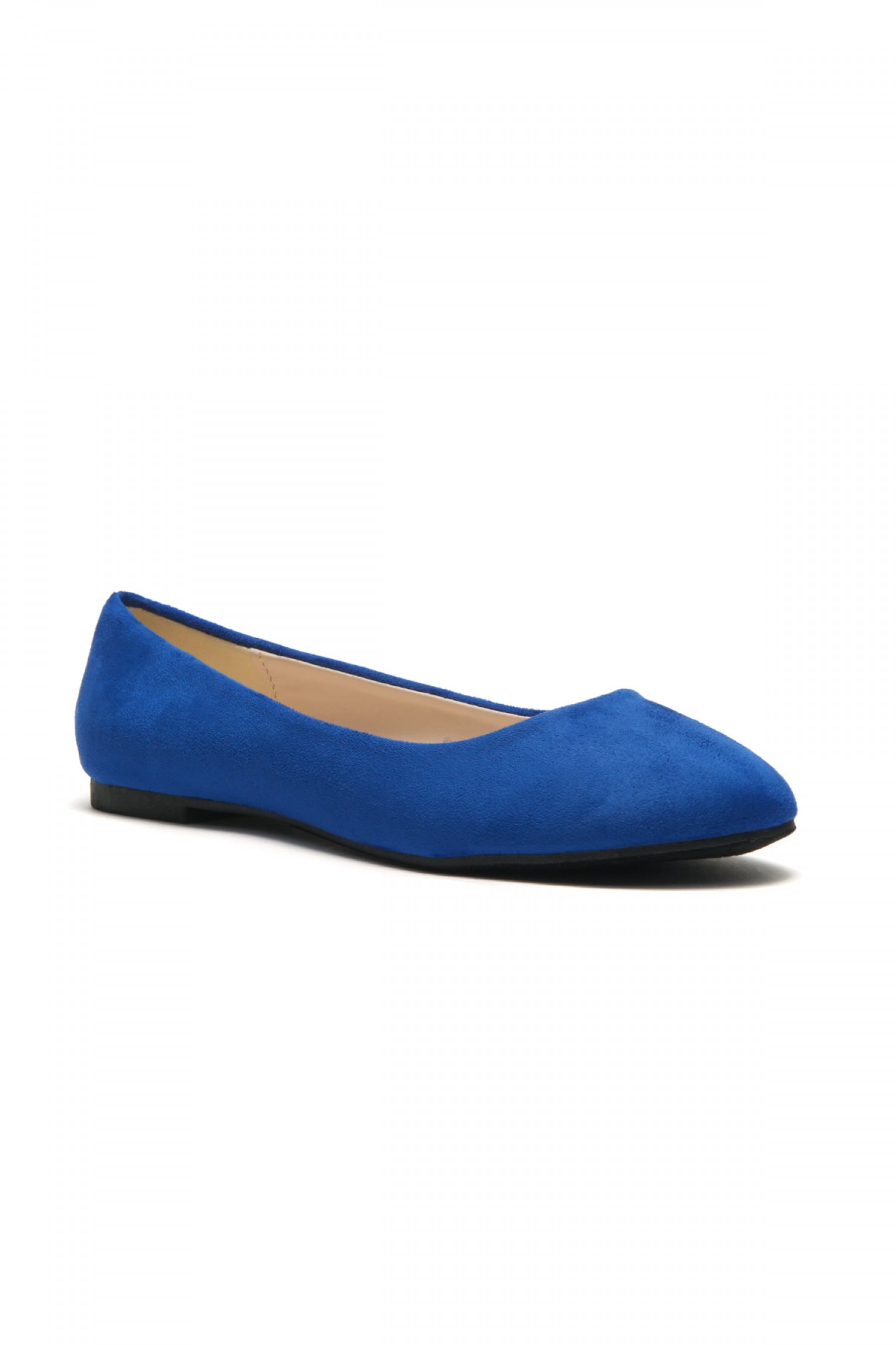 HerStyle Women's Manmade Sammba Colorful Ballet Flat (Royal Blue)