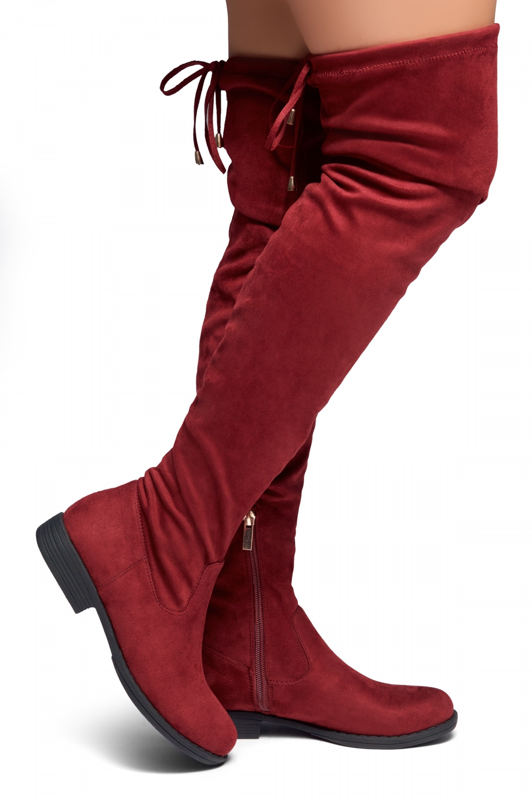 HerStyle Secret Obsession-Women's FashionThigh High Construction Casual Boots(Burgundy)