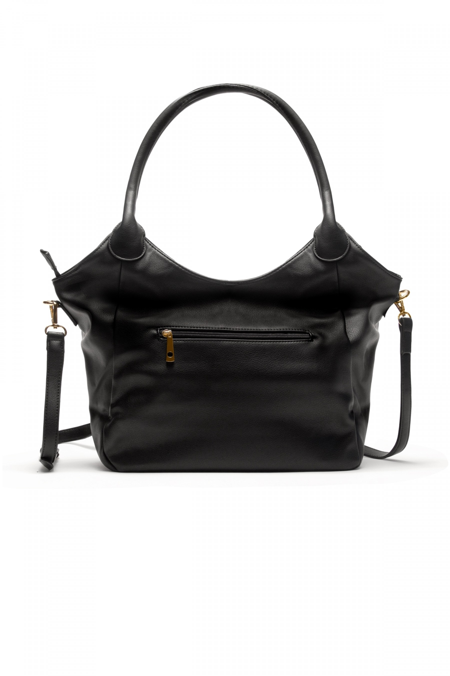 SLC-662661- Classic Simple Top Handle Bag (Black)