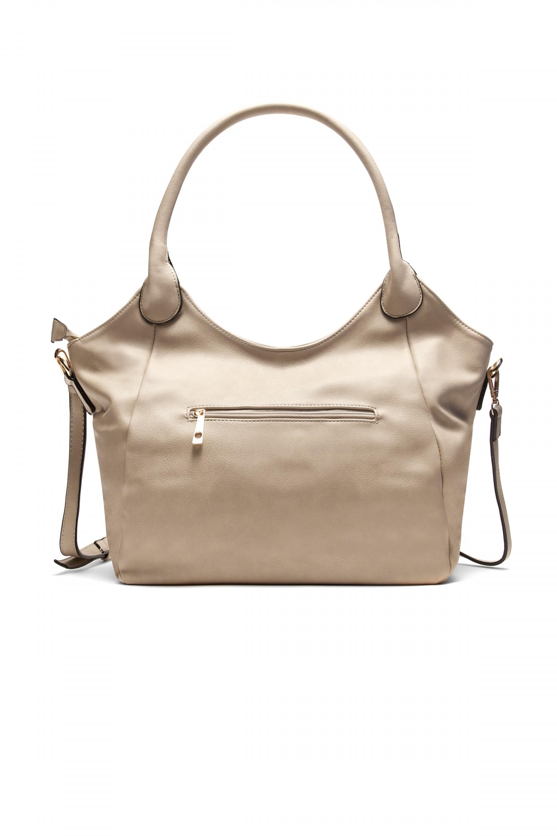 SLC-662661- Classic Simple Top Handle Bag (Khaki)