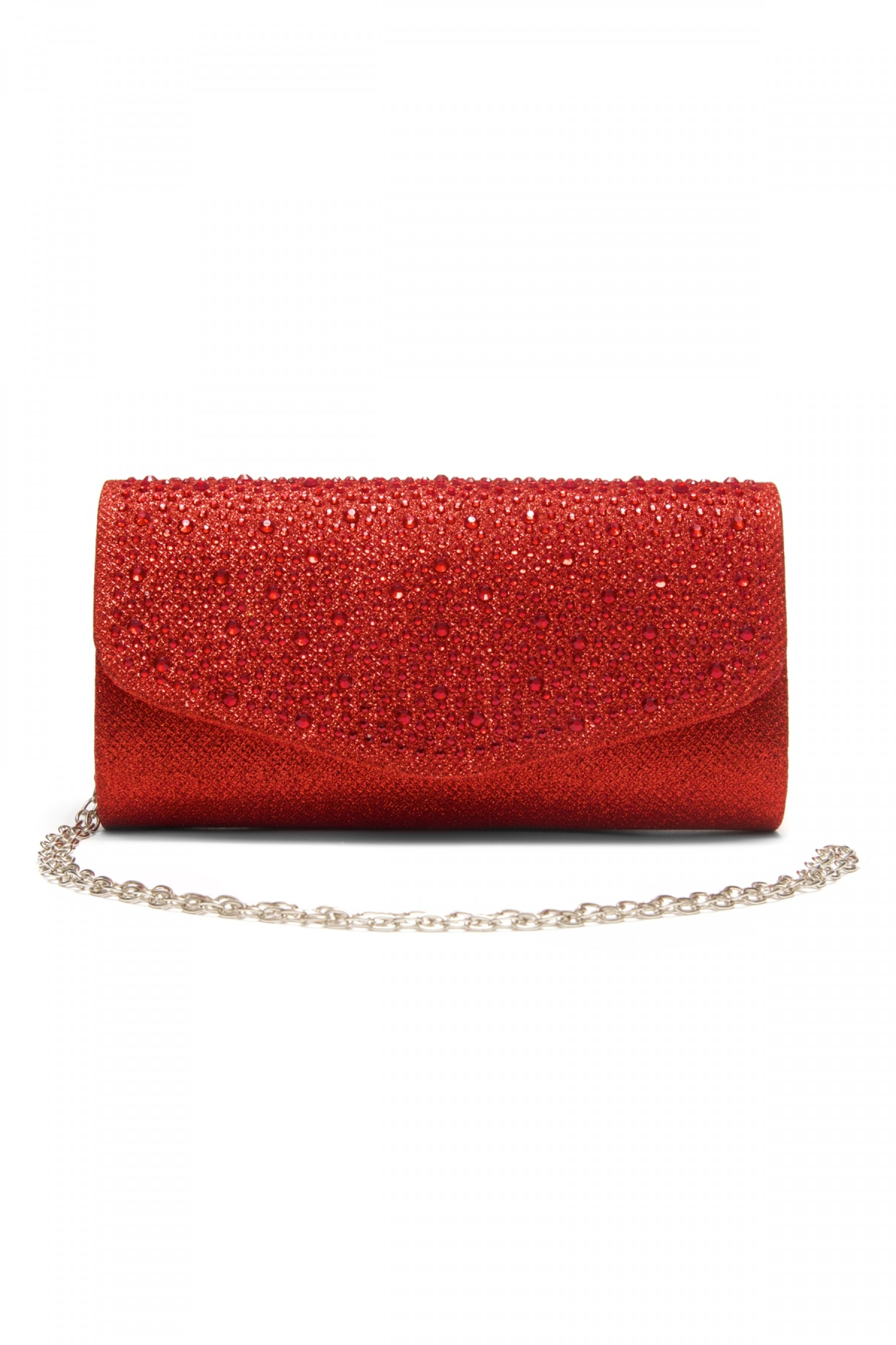 SZY-8808-Glittering Womens Flap Evening Purse (Red)