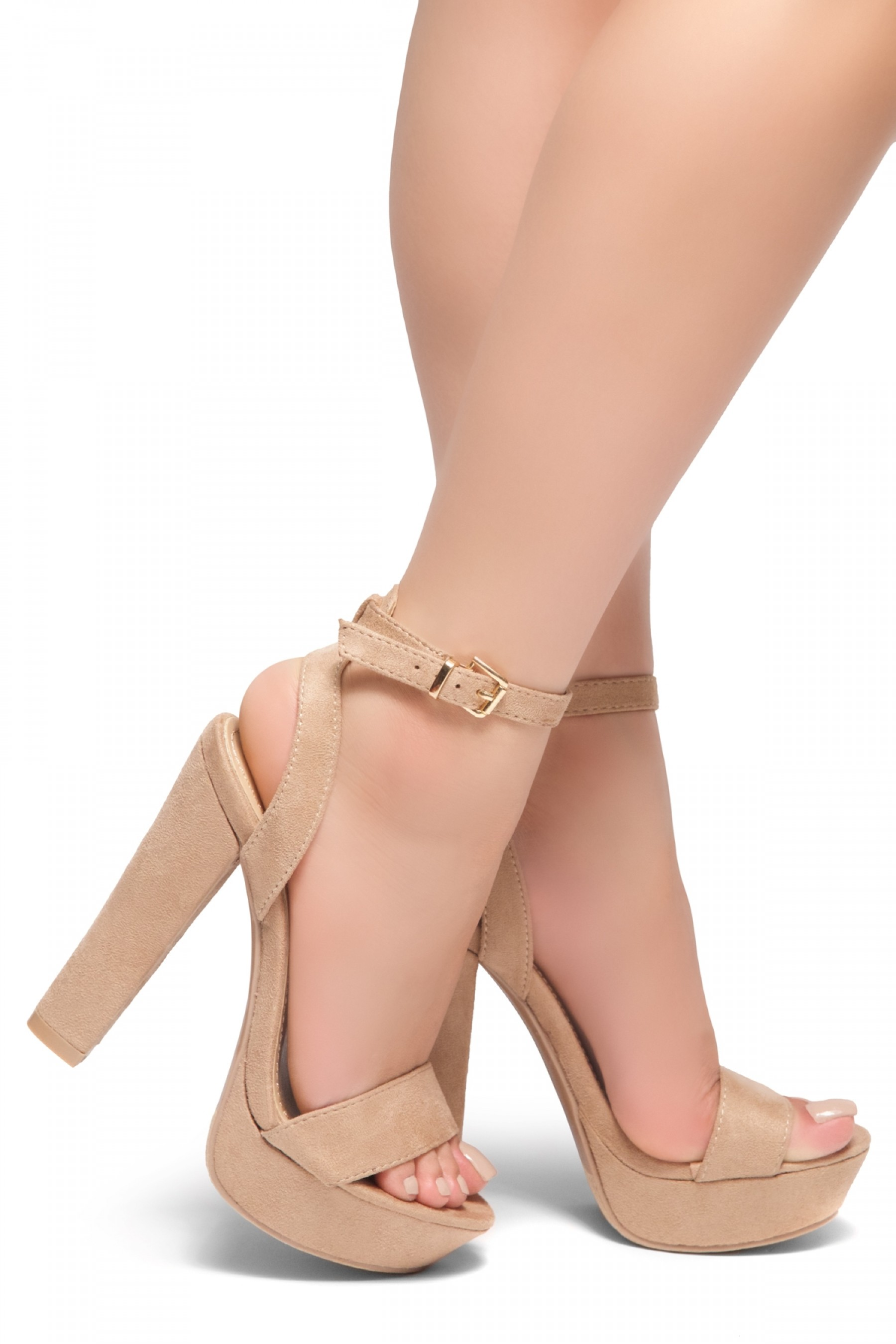 d2c7aa36ddf HerStyle THALIA- Ankle Strap Platform Chunky Heel (Blush)