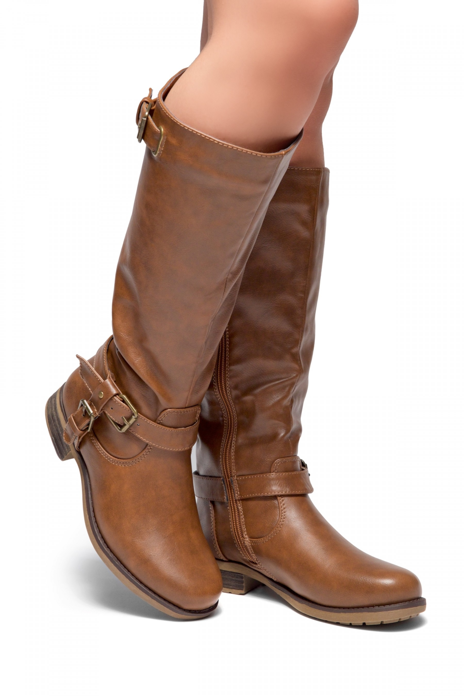 Zayylan Brown Riding Knee high Boots